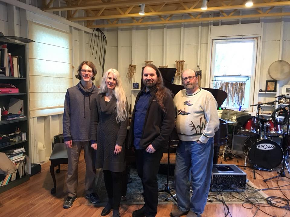 Finished the last of the tracking on the second Papilio album, Jan. 2, 2018, with a set of Swedish polskas. Special guest Alistair Maksym, piano. Photo: John Adams,  Stonehouse Sound .