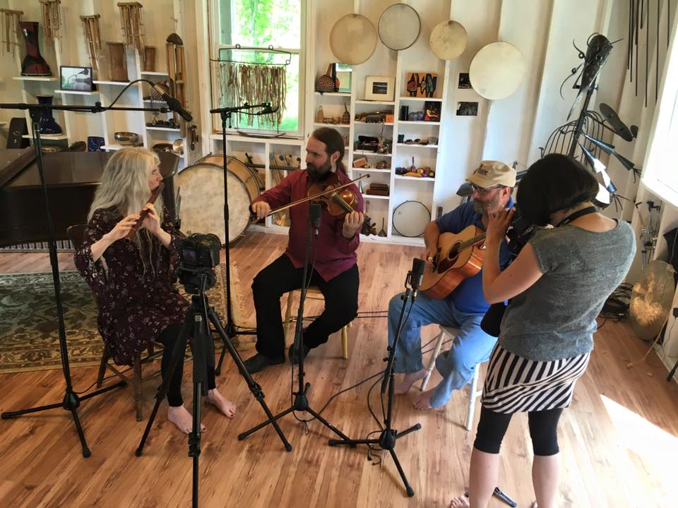 Papilio making a music video with Katy Hopkins of  Analog Songs , July 2016
