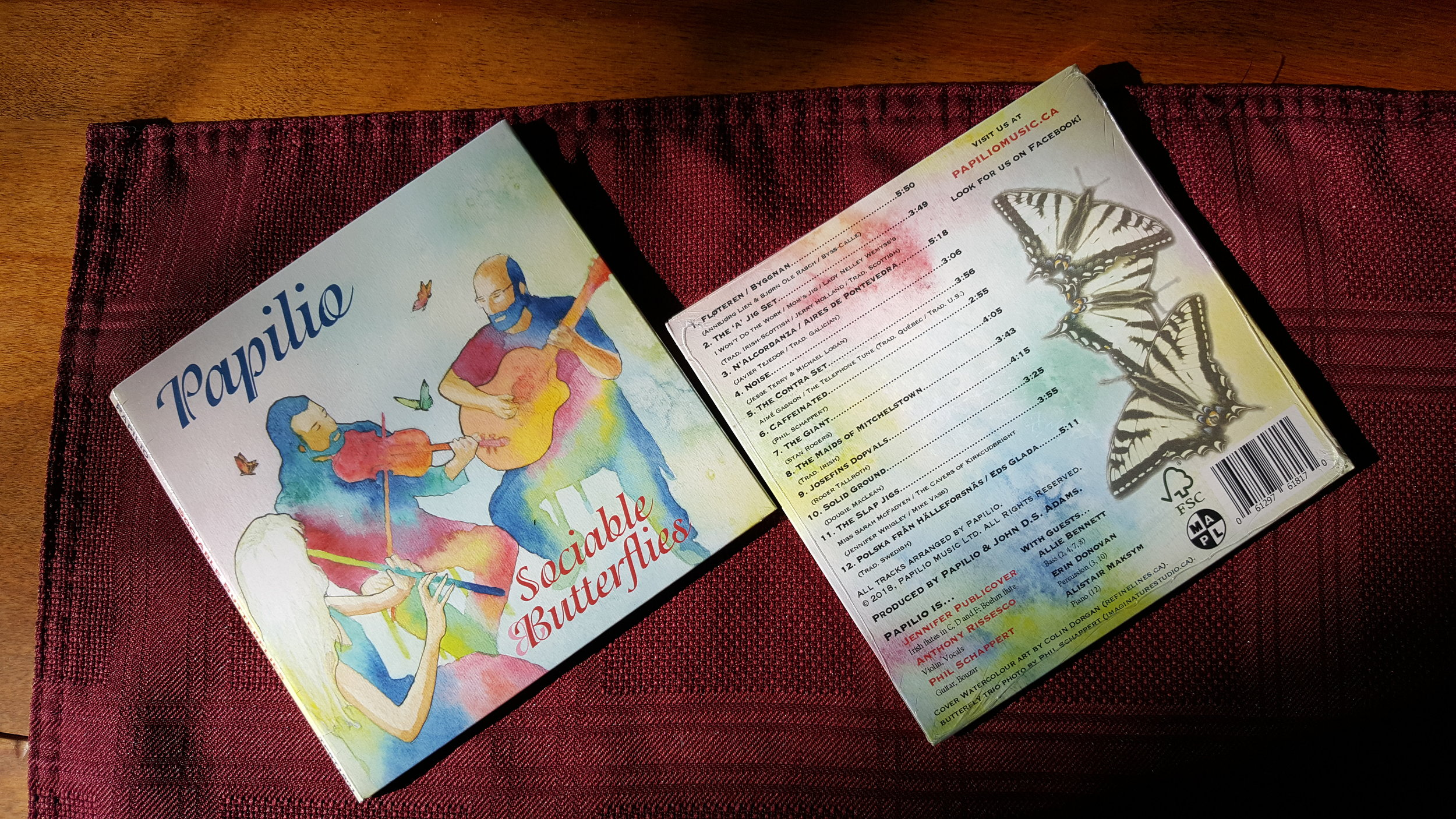 "Oct. 2018: The inventory of Papilio's second album ""Sociable Butterflies"" has arrived in cd format, and digital download and other options will be set up very soon - details soon."