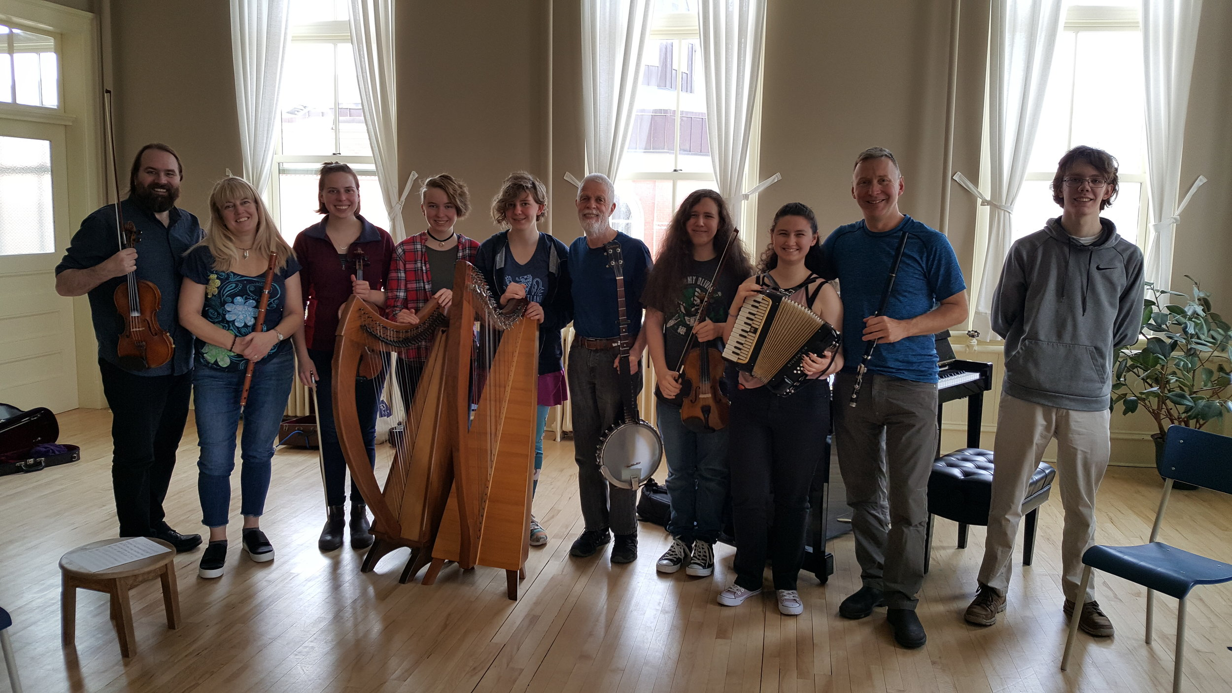 With guest instructor Chris Norman, director of the  Boxwood Festival , May 12, 2019