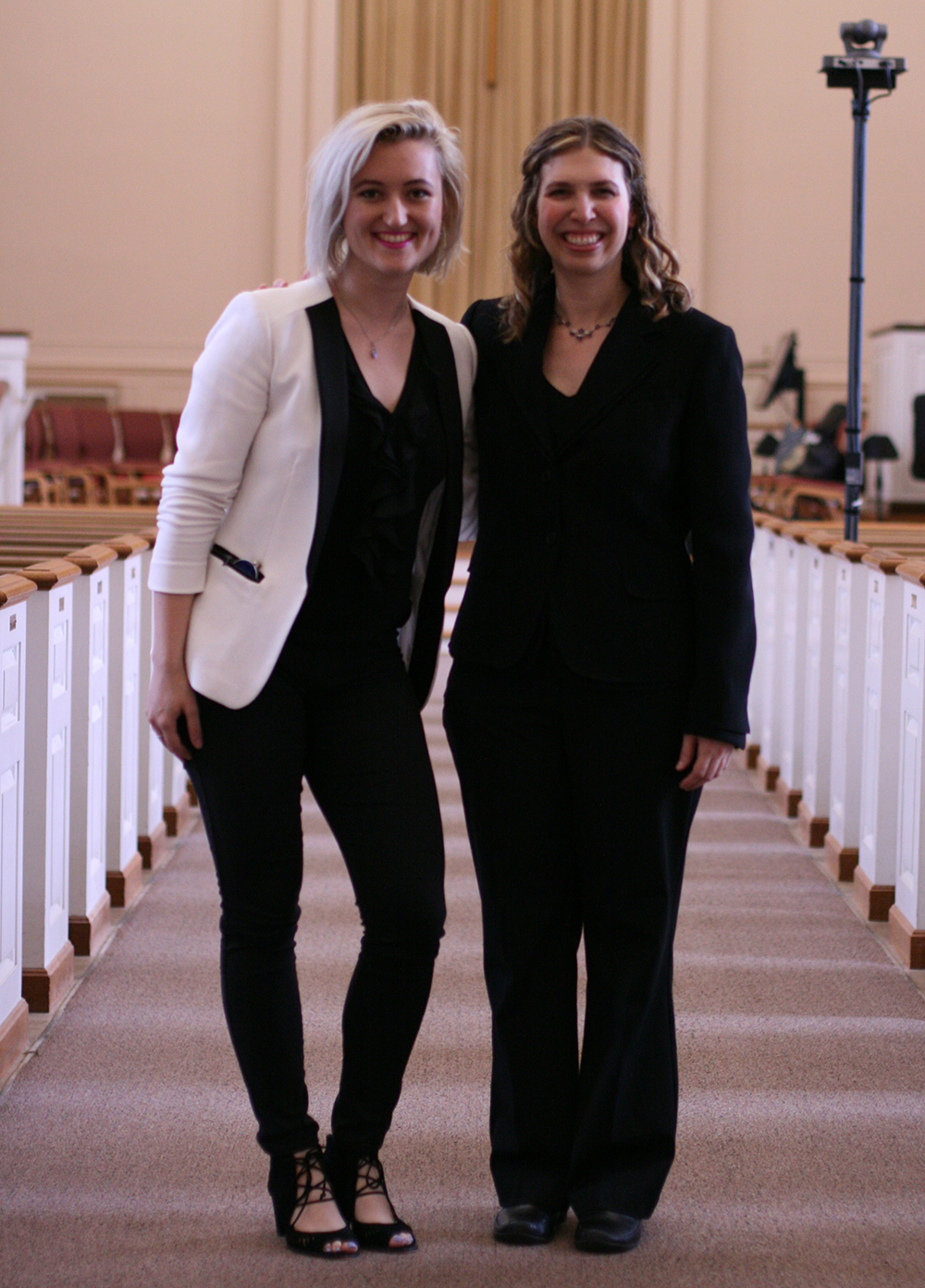 Artistic Director Rachel Carlson with 2016 Young Composers Competition Winner Katherine Bodor