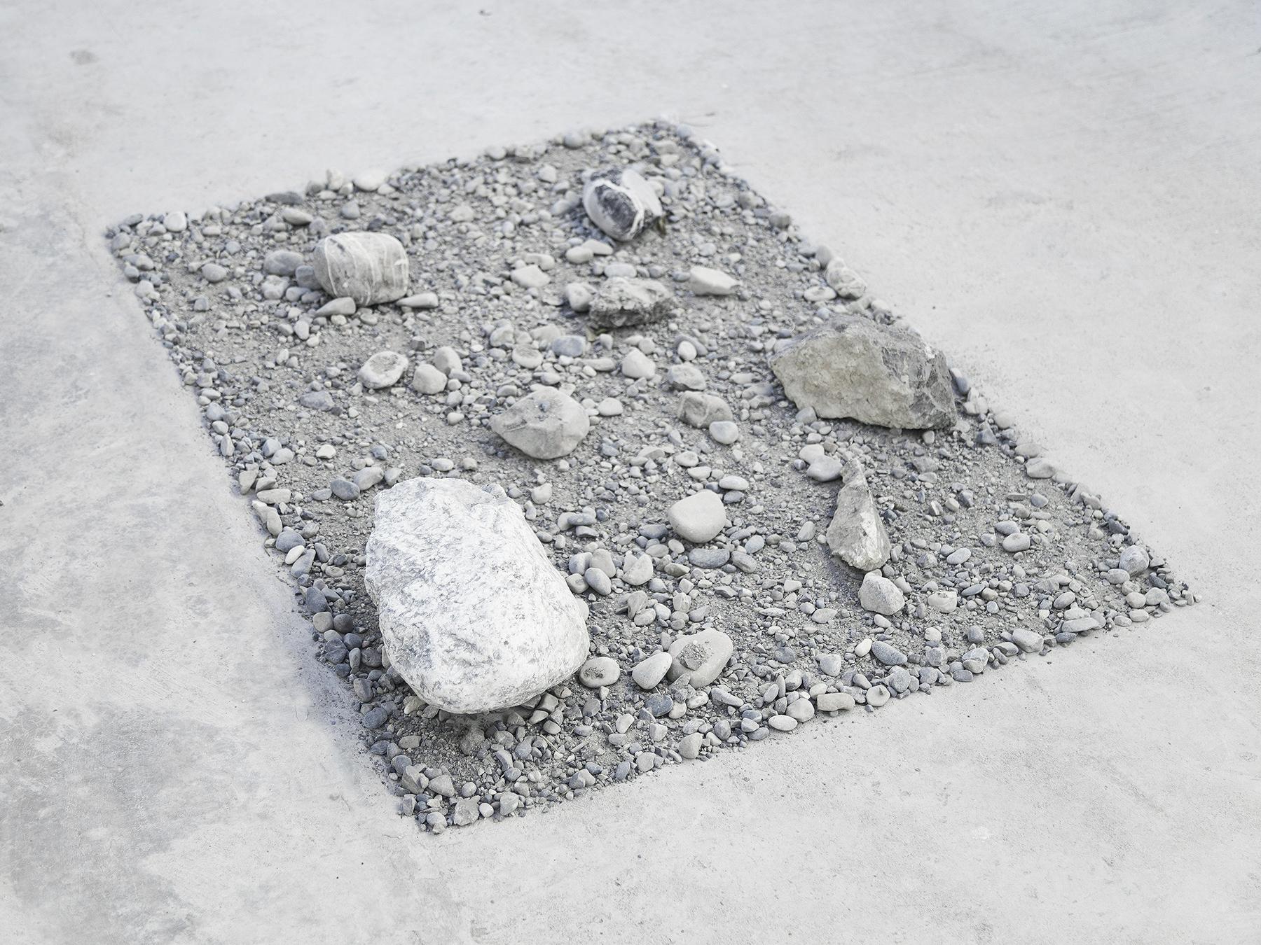 alessandro moroder   untitled   rocks, sand, dirt  variable dimensions  2016