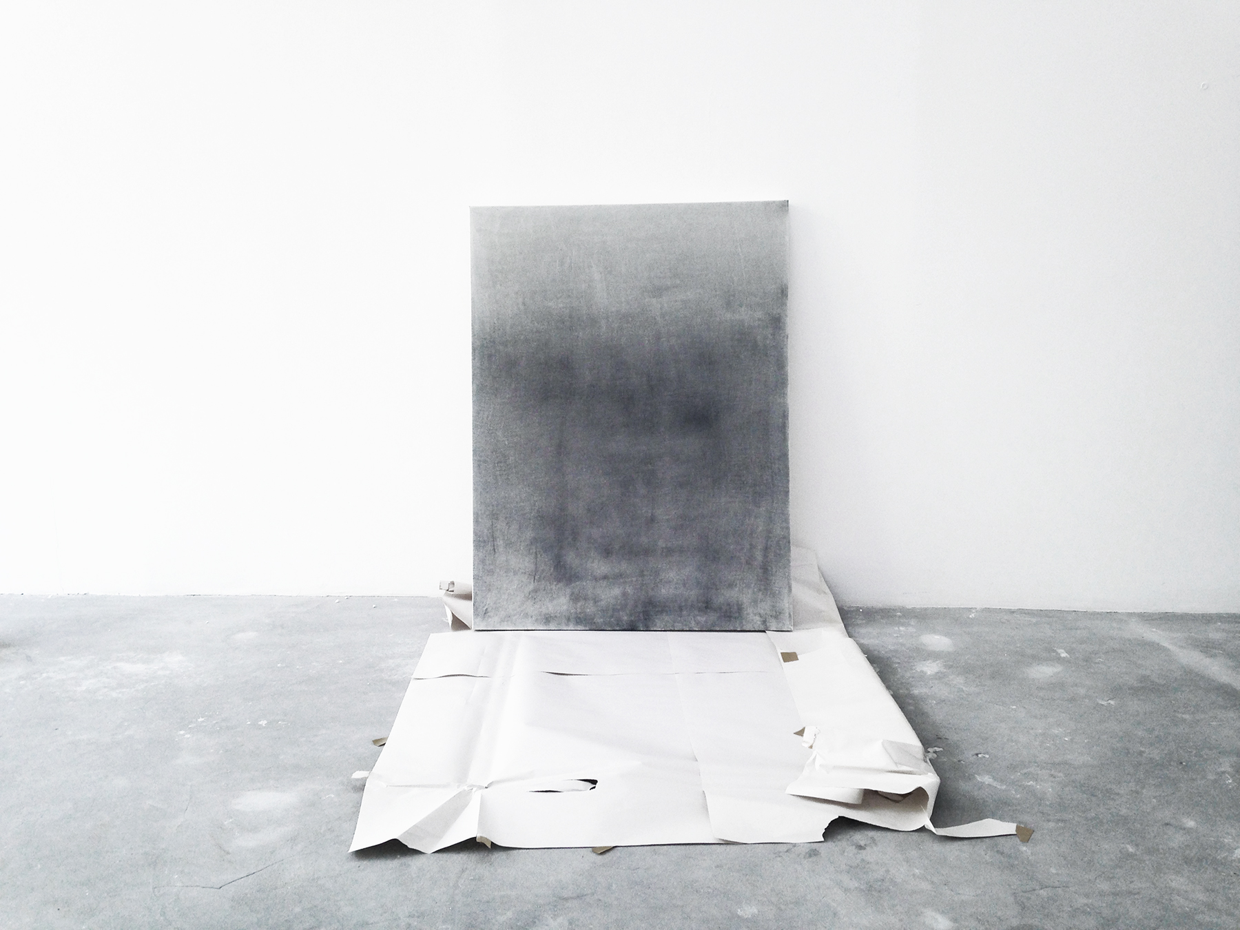 alessandro moroder   dirt painting   dirt, enamel on canvas  120 x 80 cms  2015