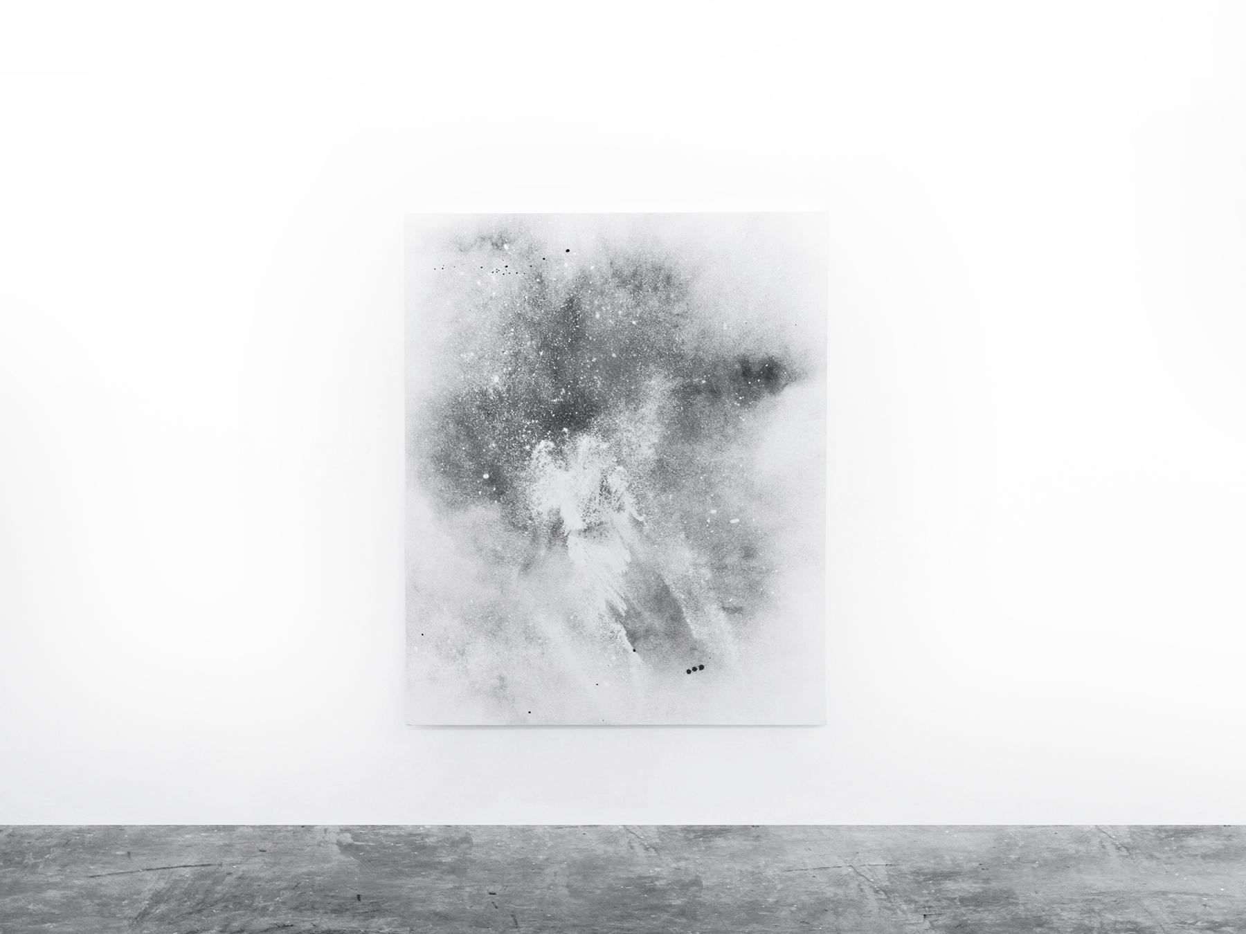 alessandro moroder   dirt painting   160 x 125 cms  dirt, enamel on canvas  2016