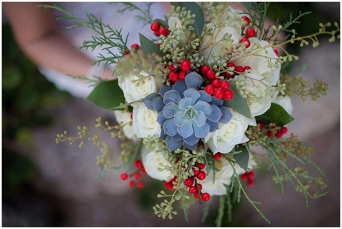 winter beach inspiration florals details flowers @psjphotography