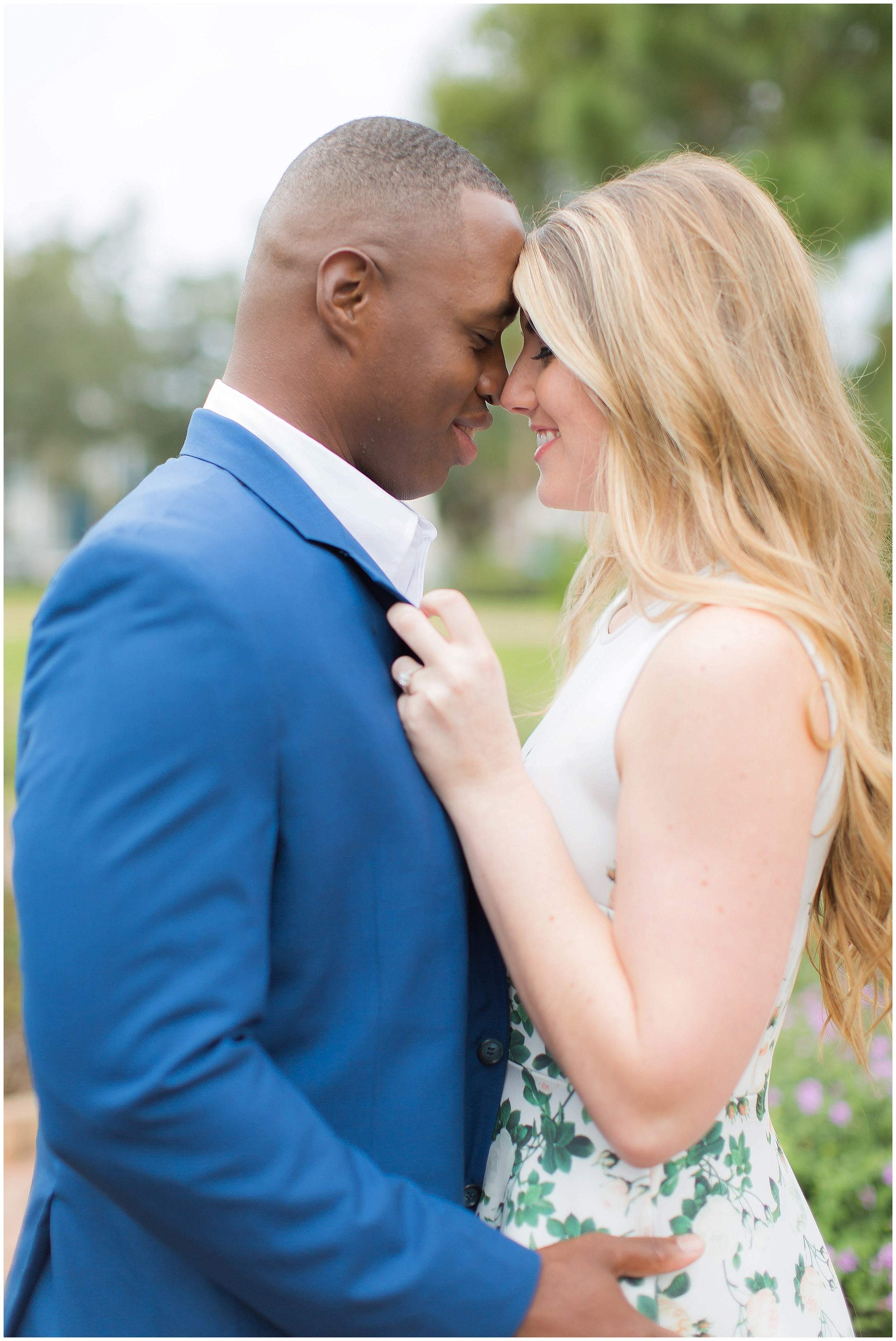 Downtown Winter Park Rose Garden Engagement Session