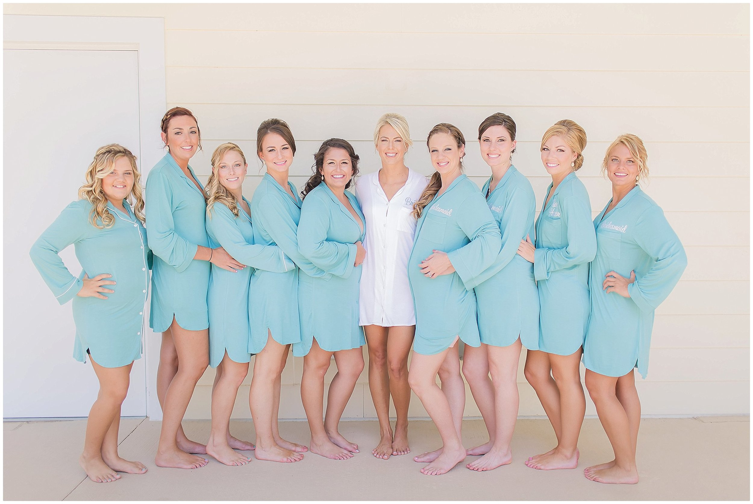 Bride and Bridesmaids getting ready at Lake Mary Events Center