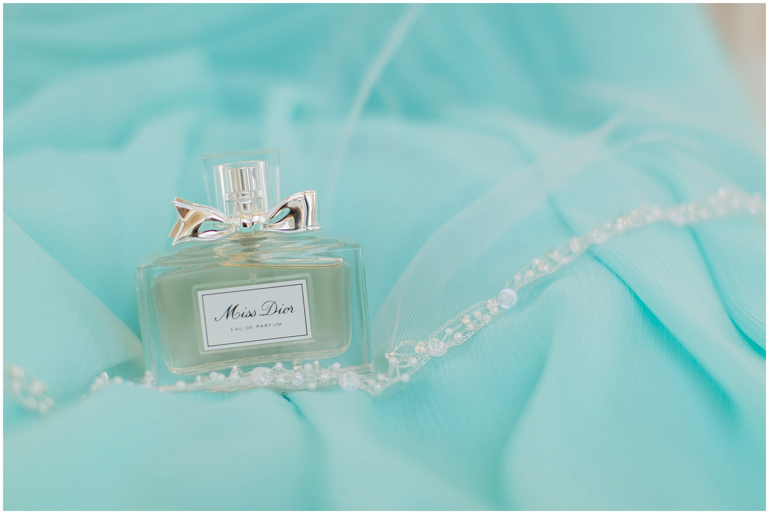 Tiffany blue wedding details of Miss Dior Perfume at  Lake Mary Events Center Wedding