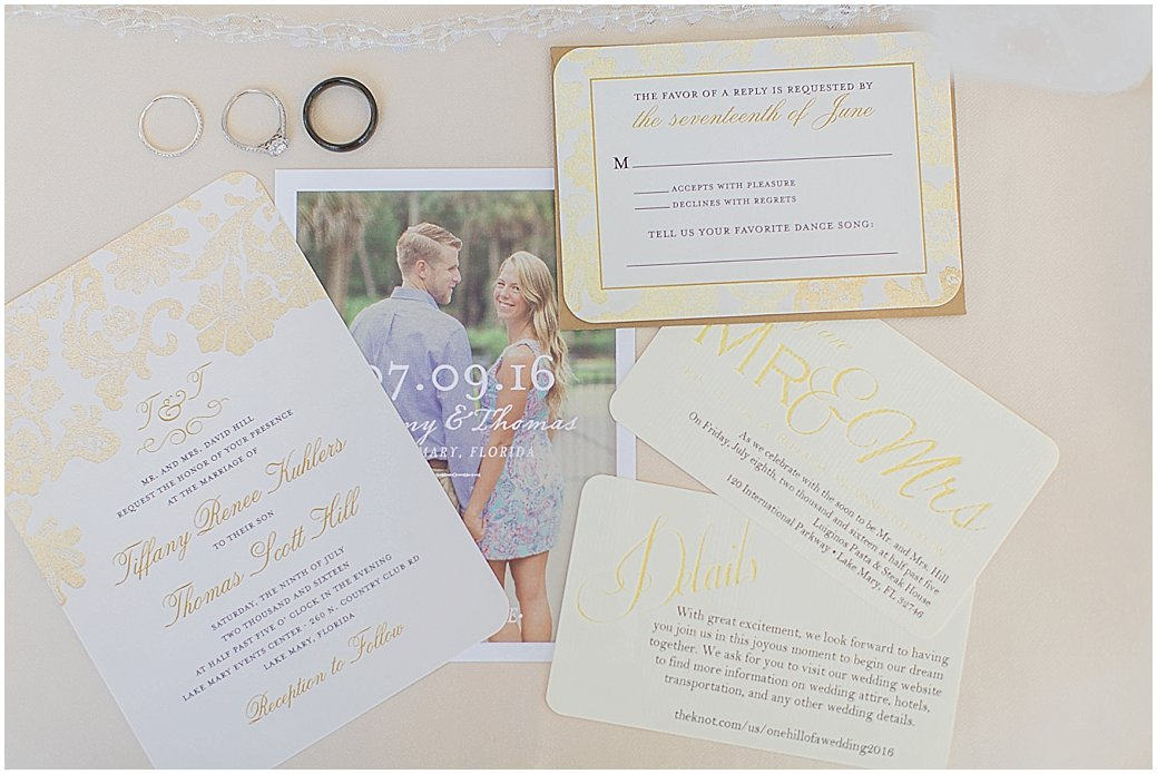 Invitation suite with engagement photos