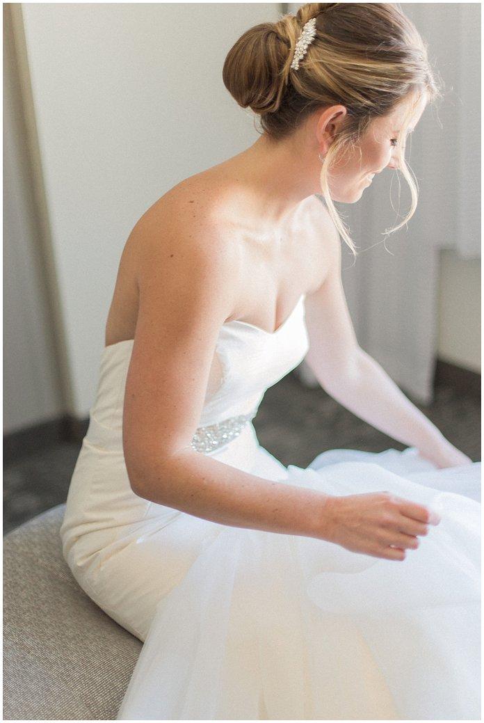 Bridal Getting Ready Portrait in Hayley Paige