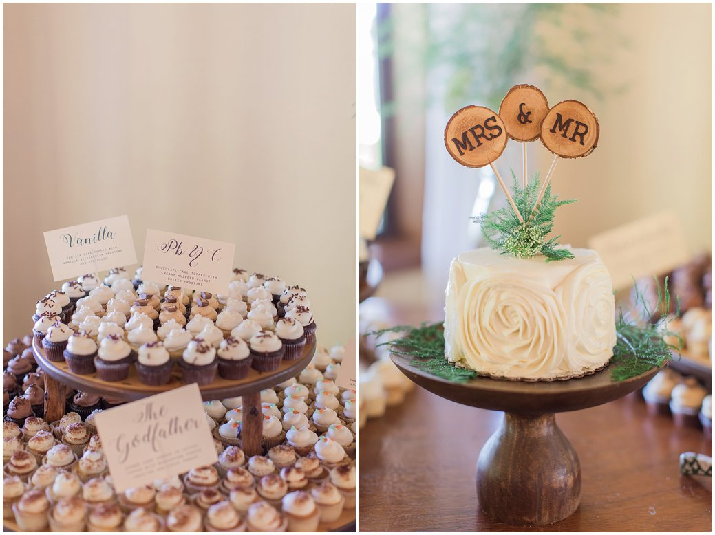 Wedding cupcakes and Cutting Cake