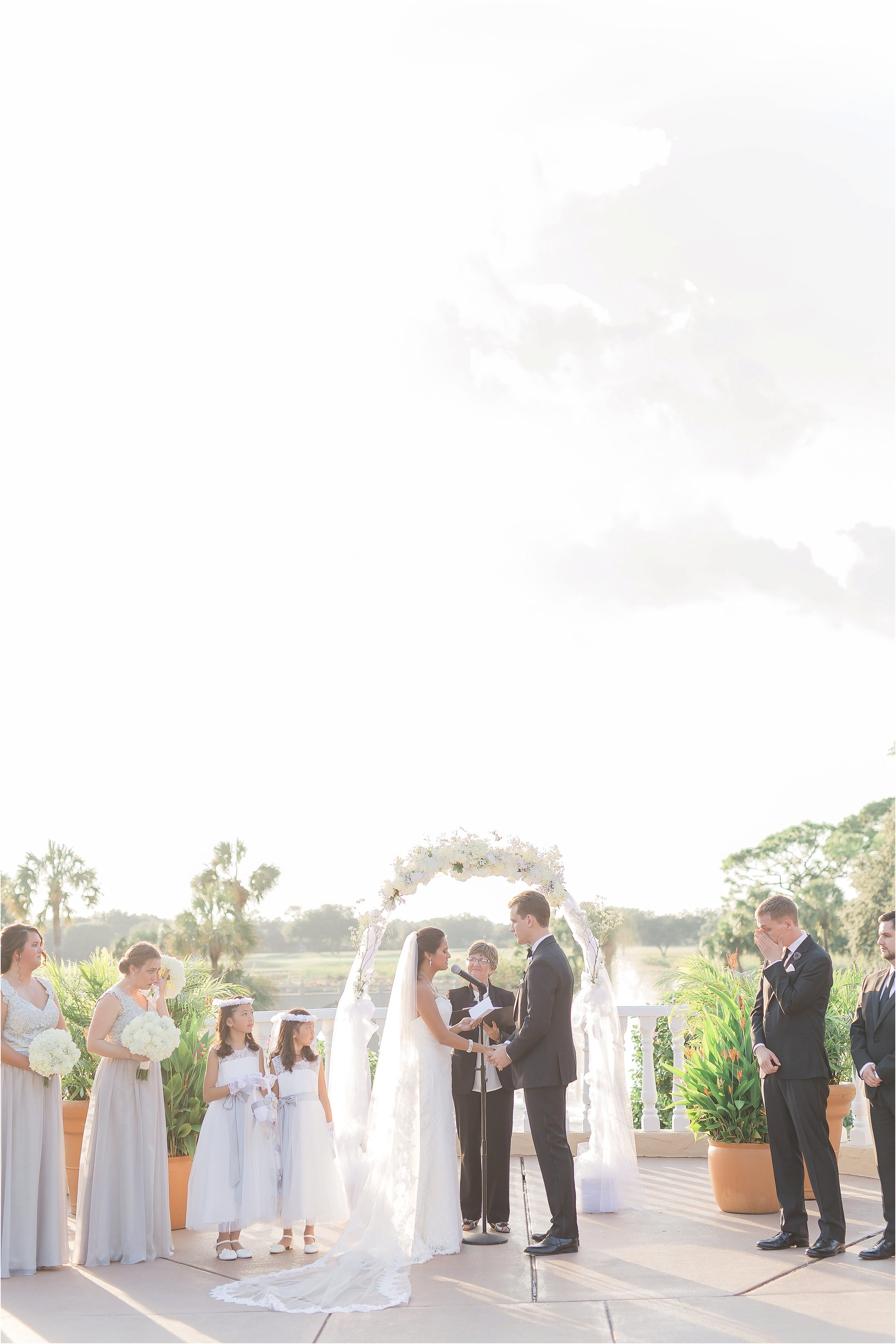 Wedding Ceremony Full of Love and Tears at Mission Inn in Orlando Florida