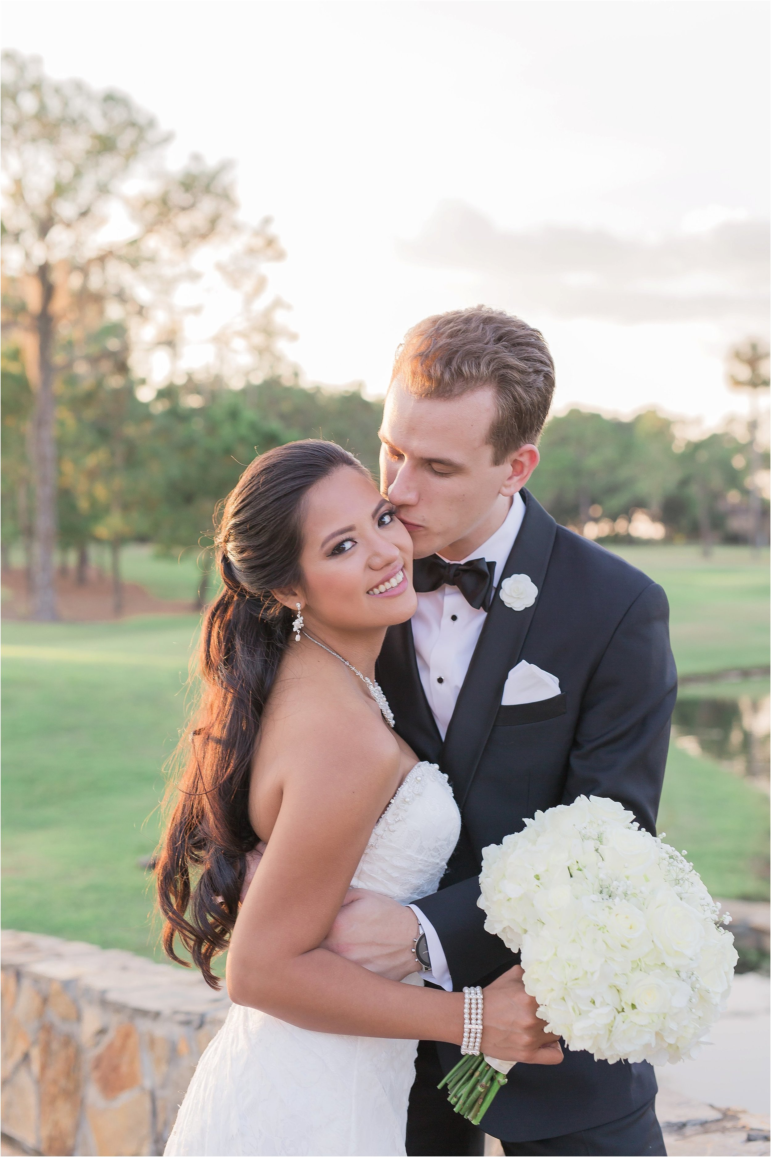 Bride and Groom Portraits.  Fun poses to show off the newlyweds!