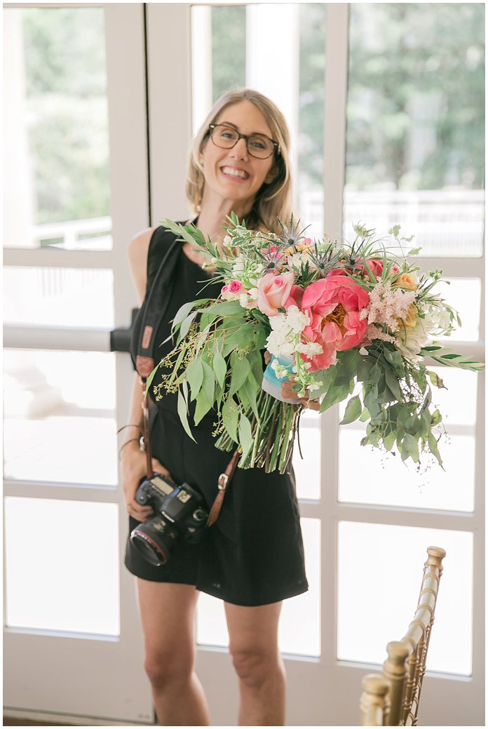Big smiles for big bouquets!