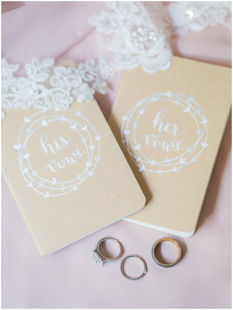Bridle Oaks Custom Wedding Vow Books In DeLand Florida with Wedding Bands