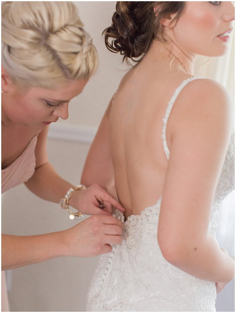 Getting Ready Moments with Bride and Maid of Honor at Bridle Oaks DeLand Florida