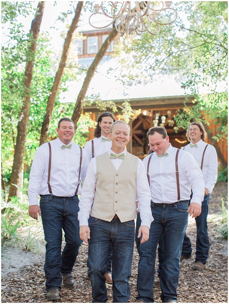 Groom and Groomsmen at Bridle Oaks DeLand Florida Wedding