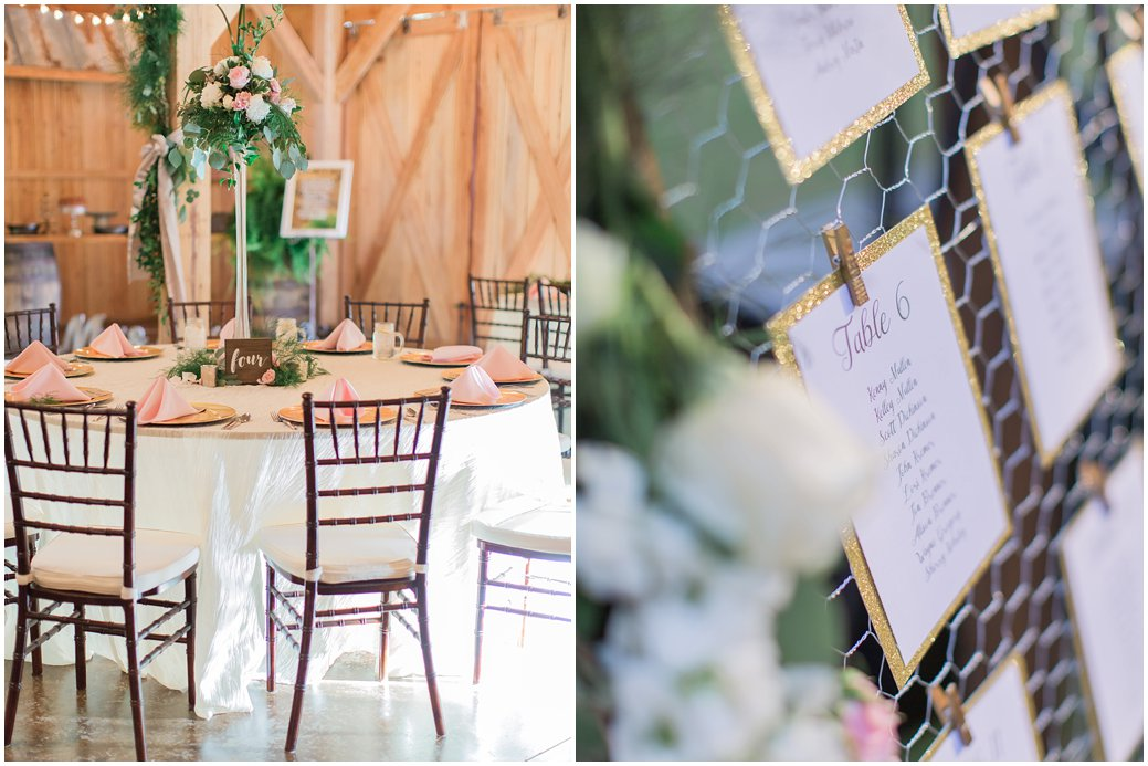 Bridle Oaks Blush Chic Barn Reception Details