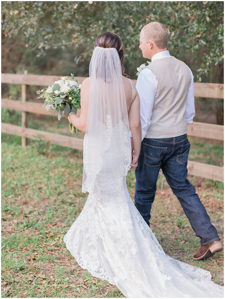 Bridle Oaks Wedding Bride and Groom Romantic Photos