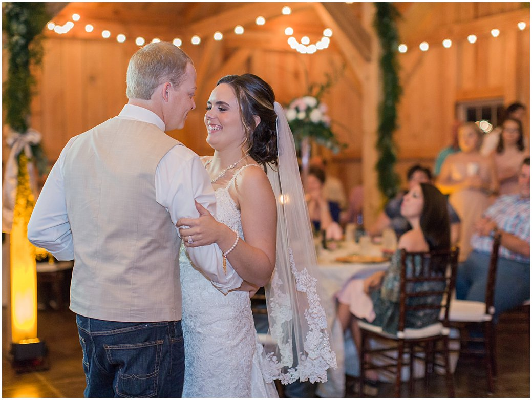 Bridle Oaks First Dance Barn Chic Wedding