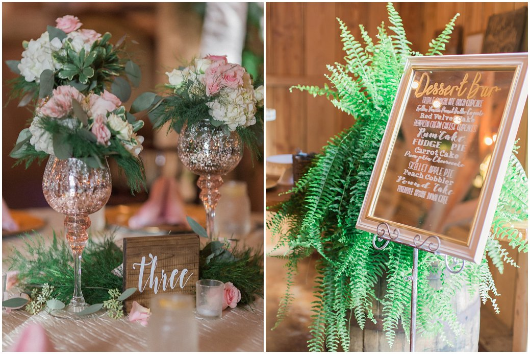 Bridle Oaks Blush Wedding Reception Details
