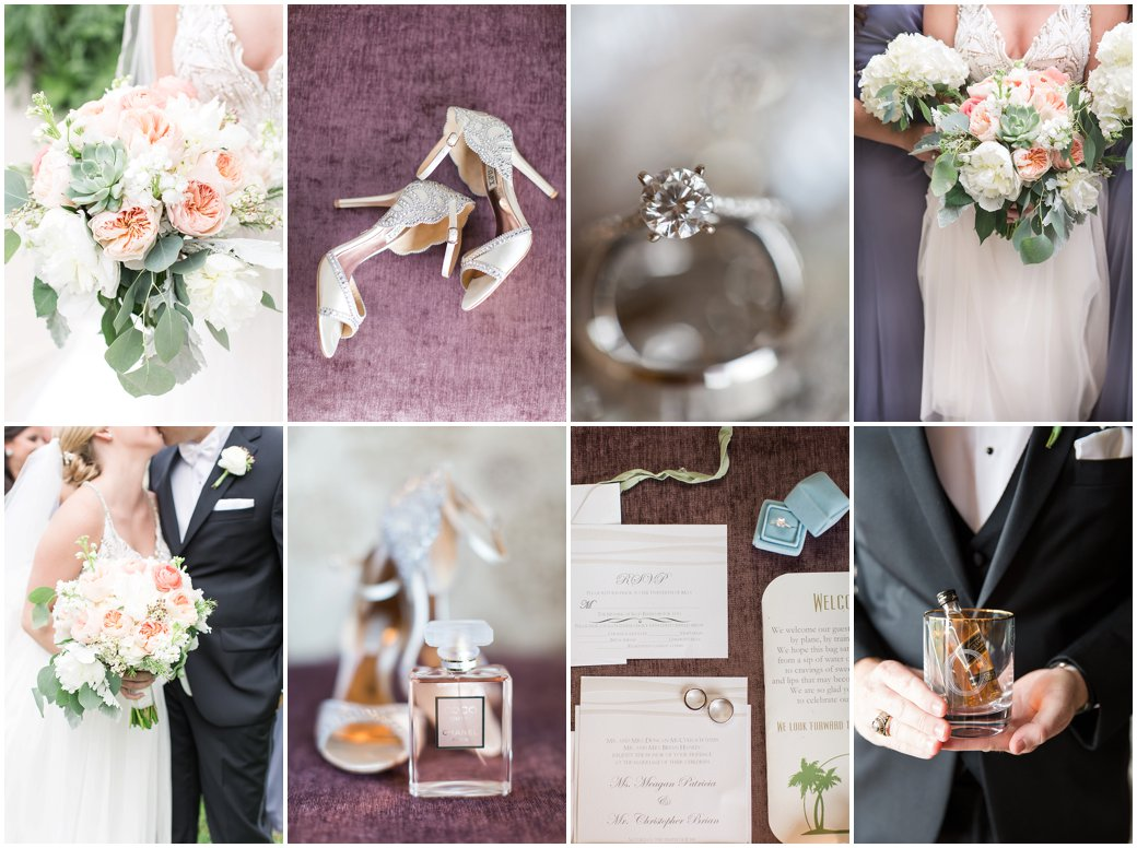 Wyndham Grand Resort at Bonnet Creek Grey and Peach Spring Time Wedding