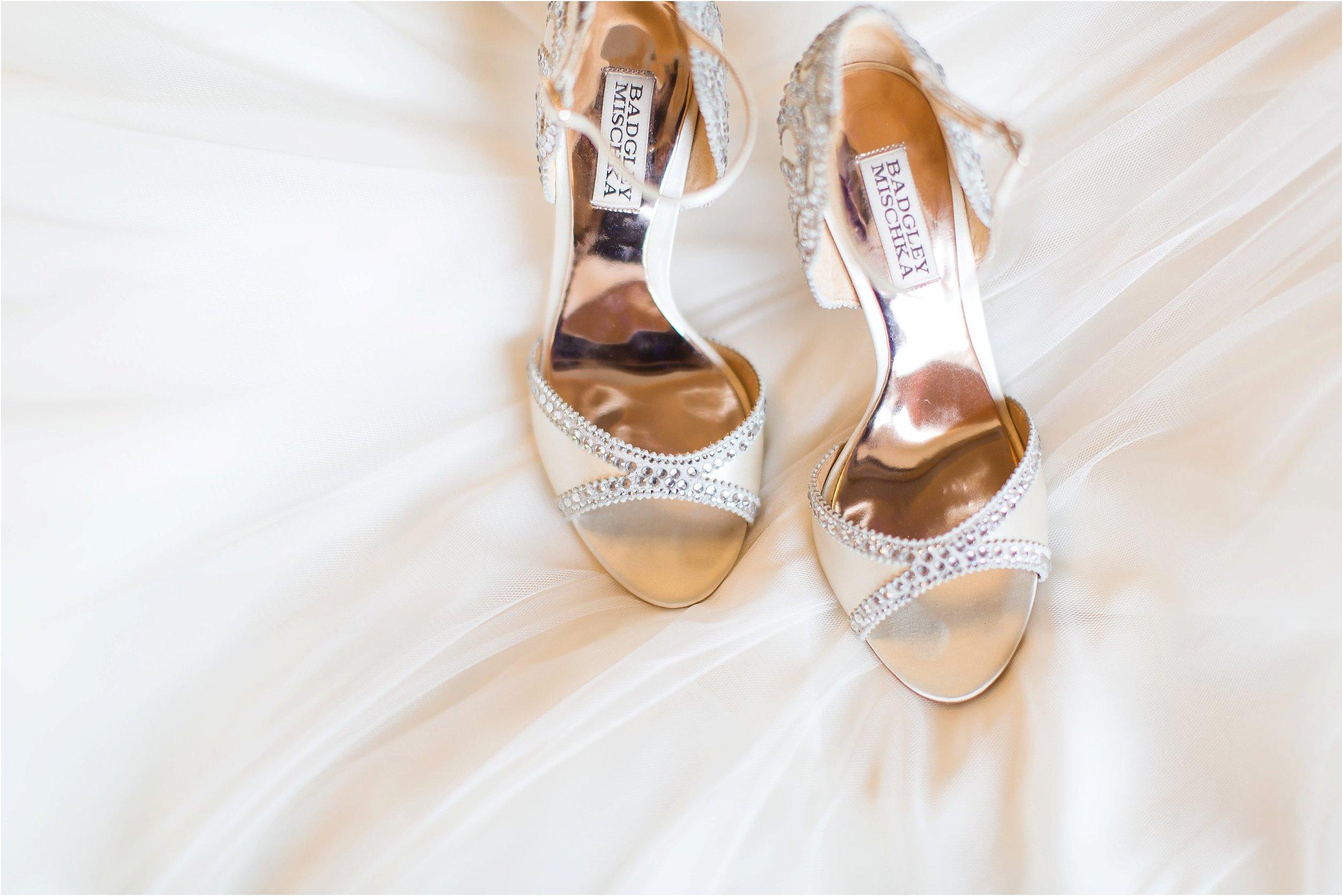 Badgley Mischka embellished bridal shoes