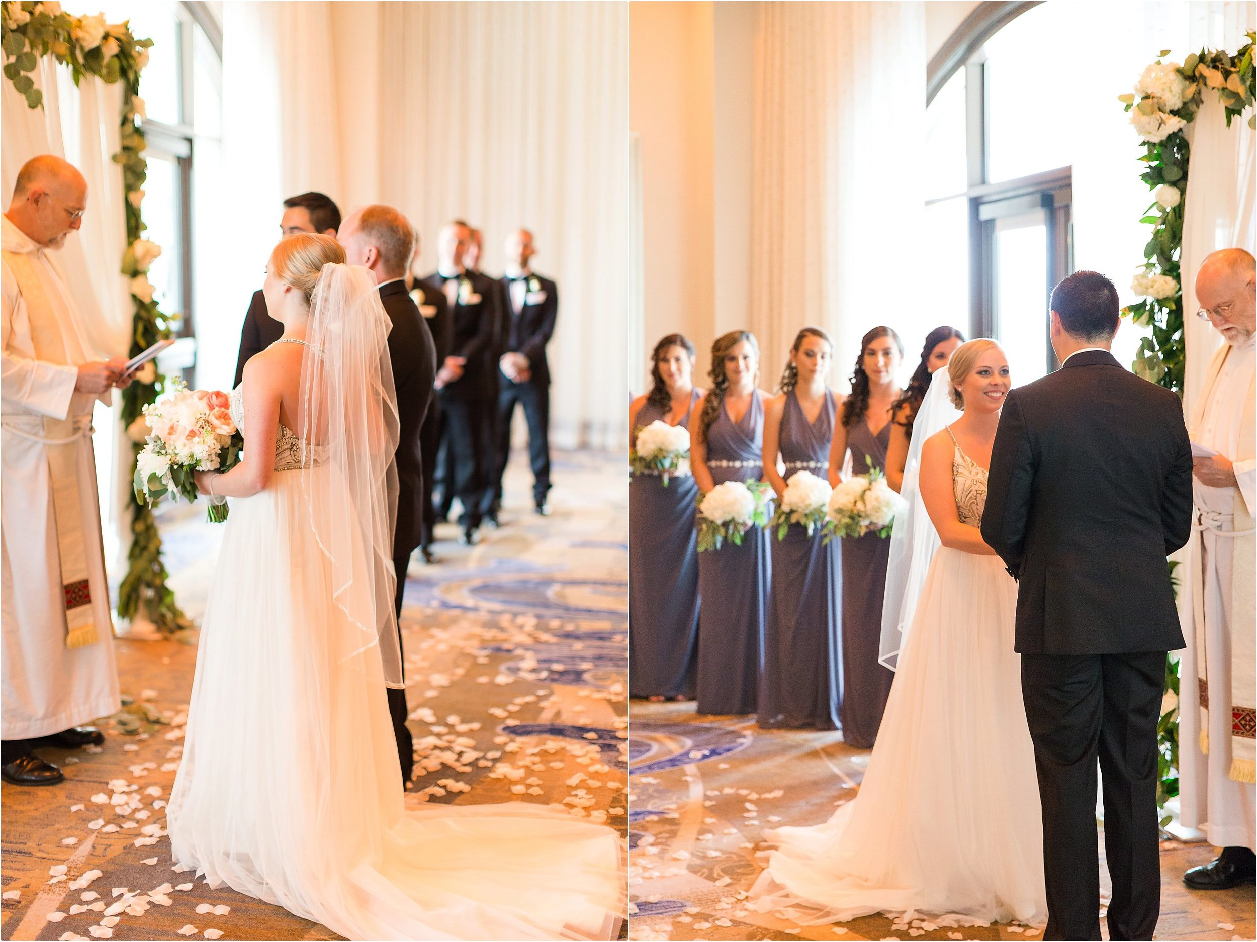 Indoor Ceremony at Wyndham Grand Resort at Bonnet Creek wedding by PSJ Photography