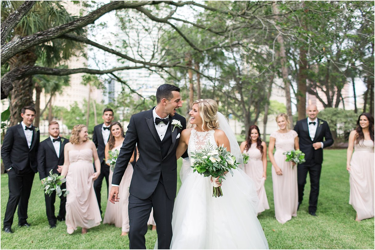 Bridal Party at University of Tampa at Oxford Exchange Wedding Tampa