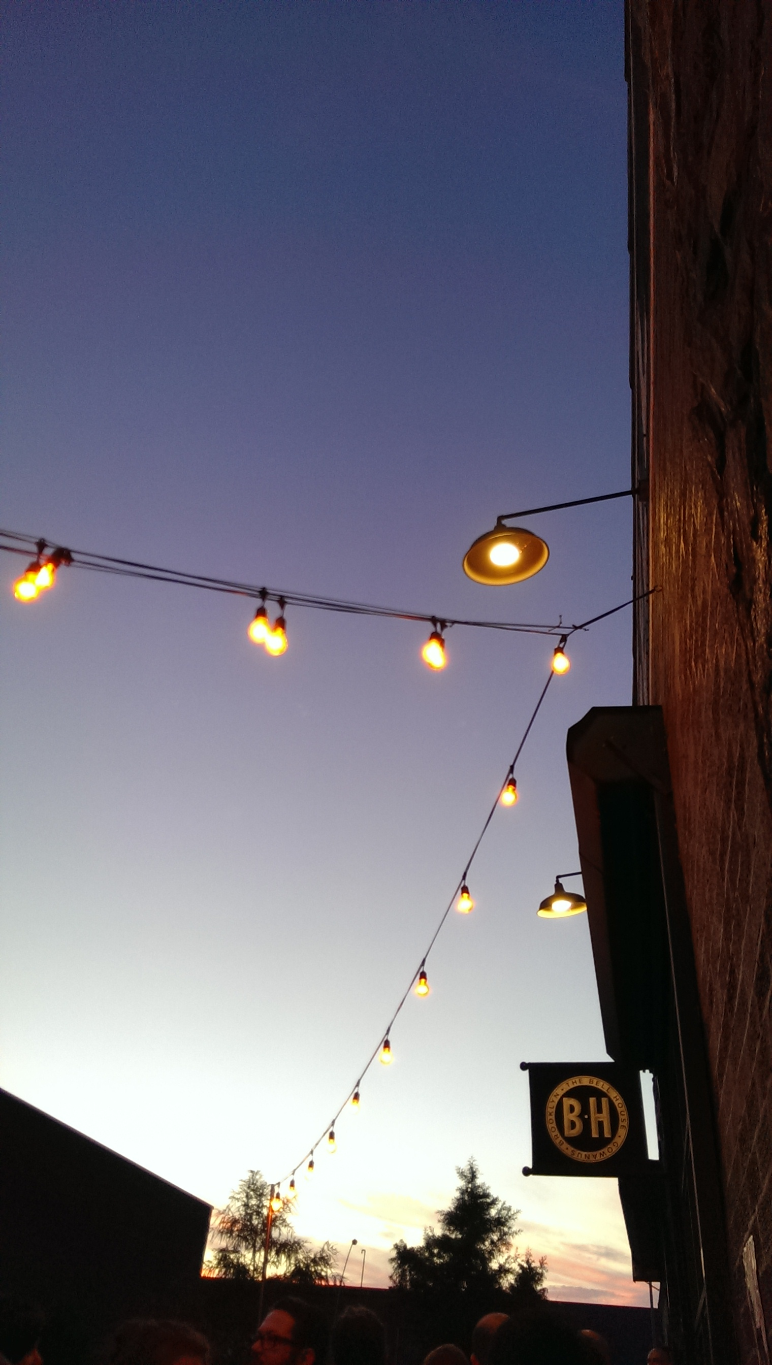 Evening lights at the Bell House.  http://www.thebellhouseny.com/