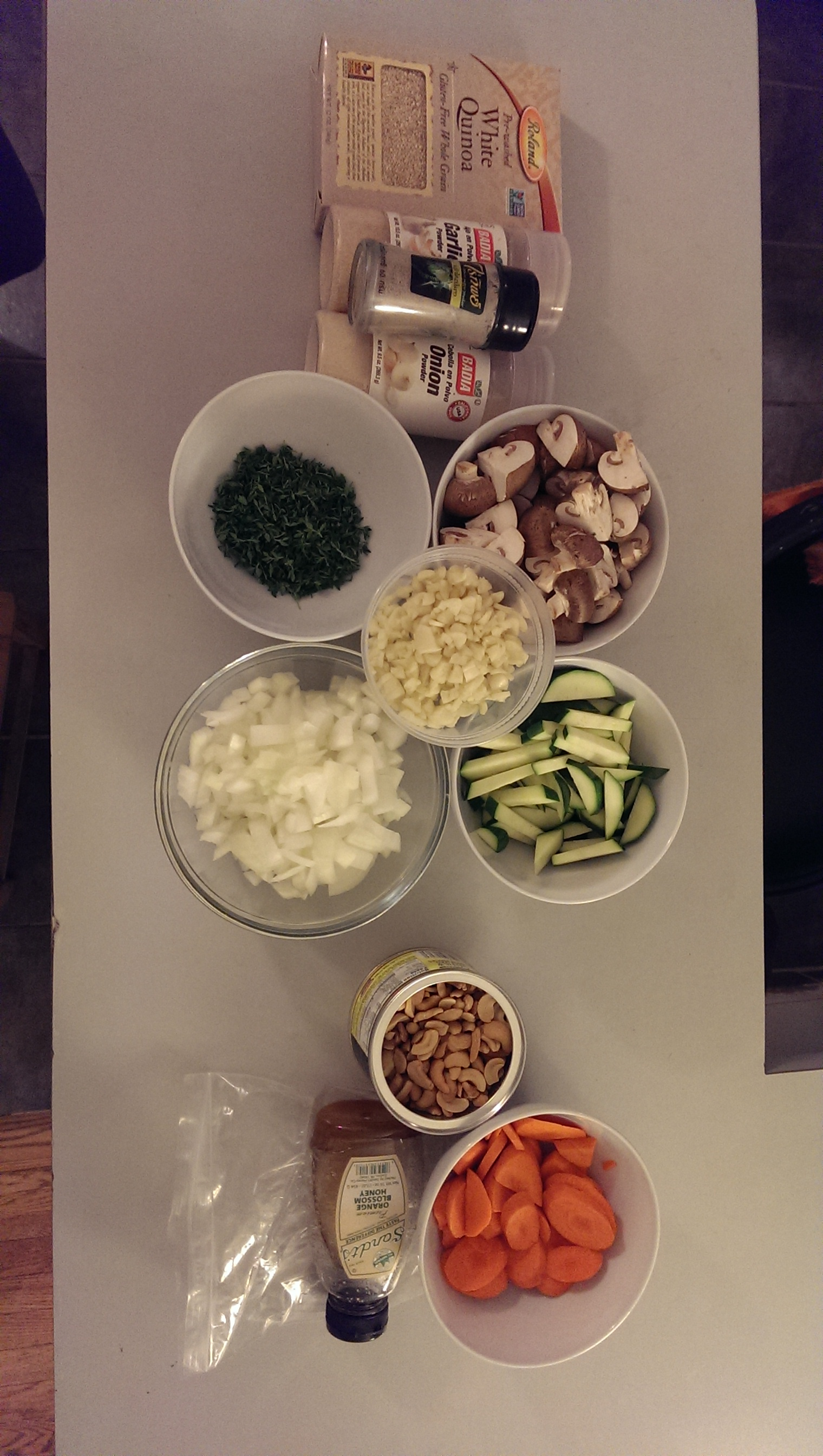 The cooking challenge begins!