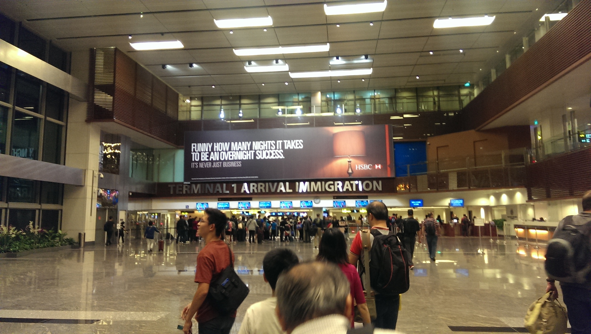 Changi Airport, Singapore Immigration