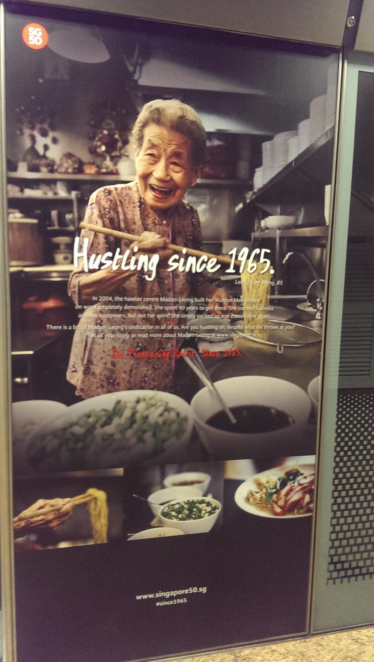 hustling Singapore.