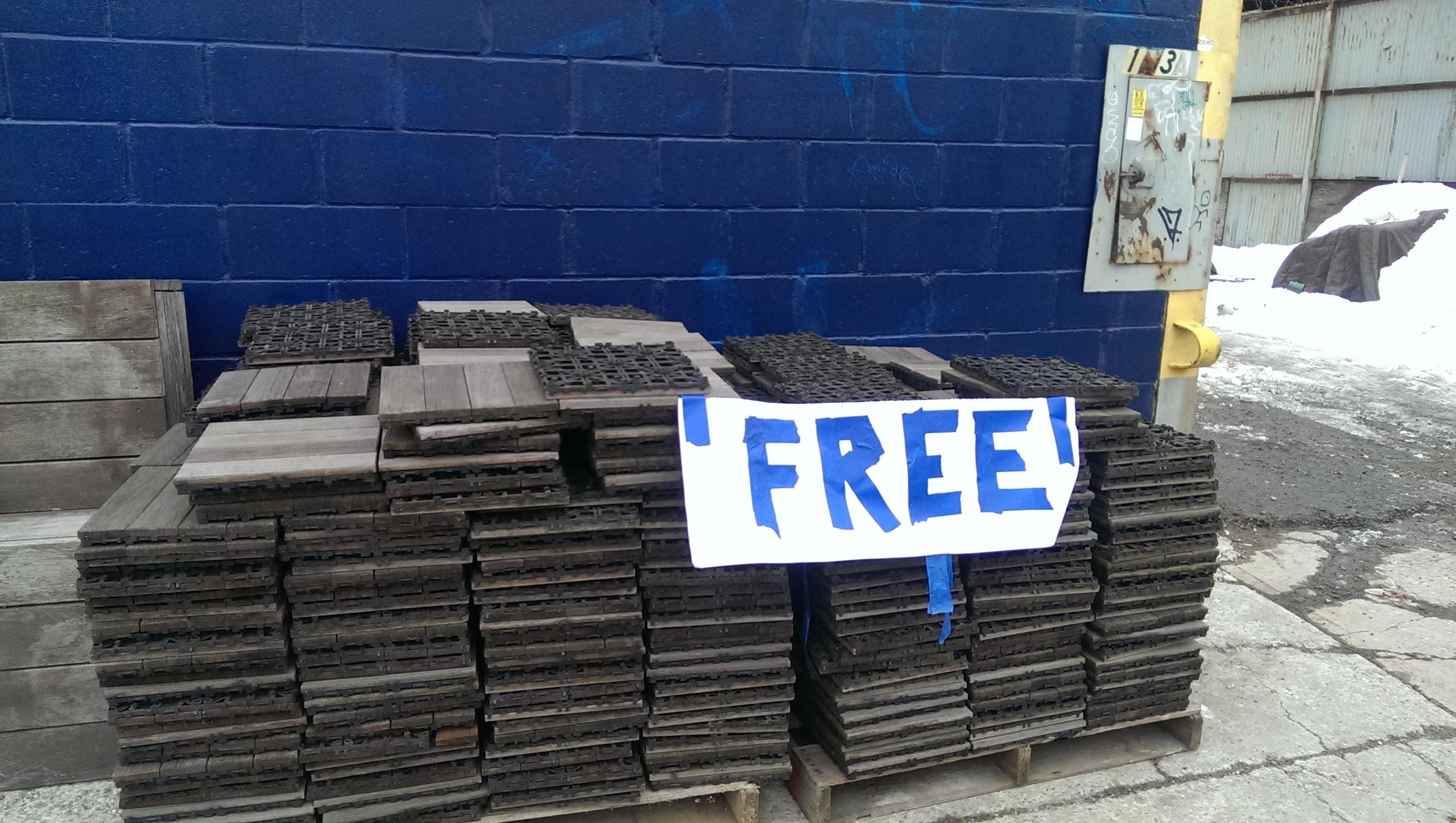 Free floor tiles