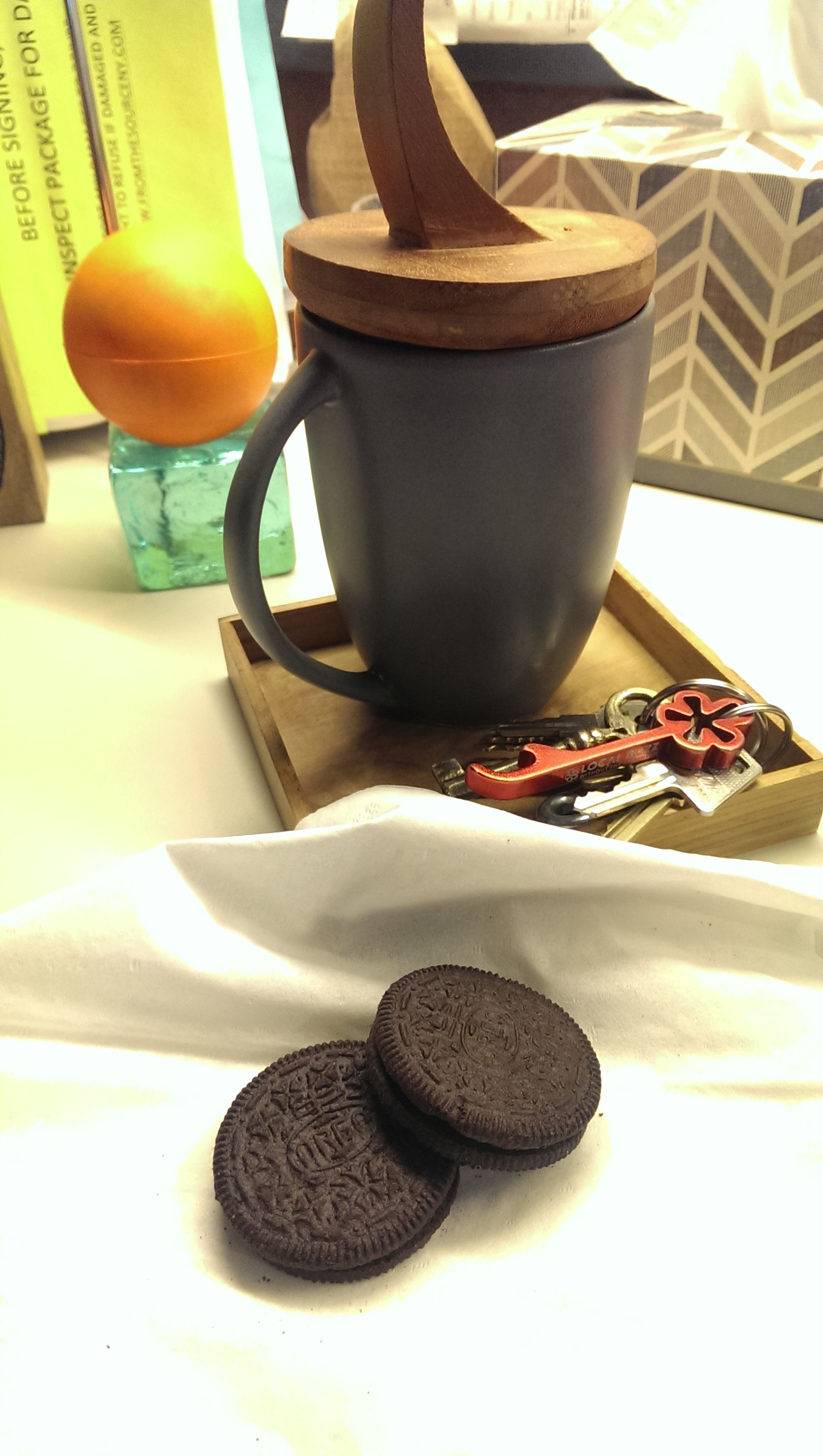 Oreo cookie break