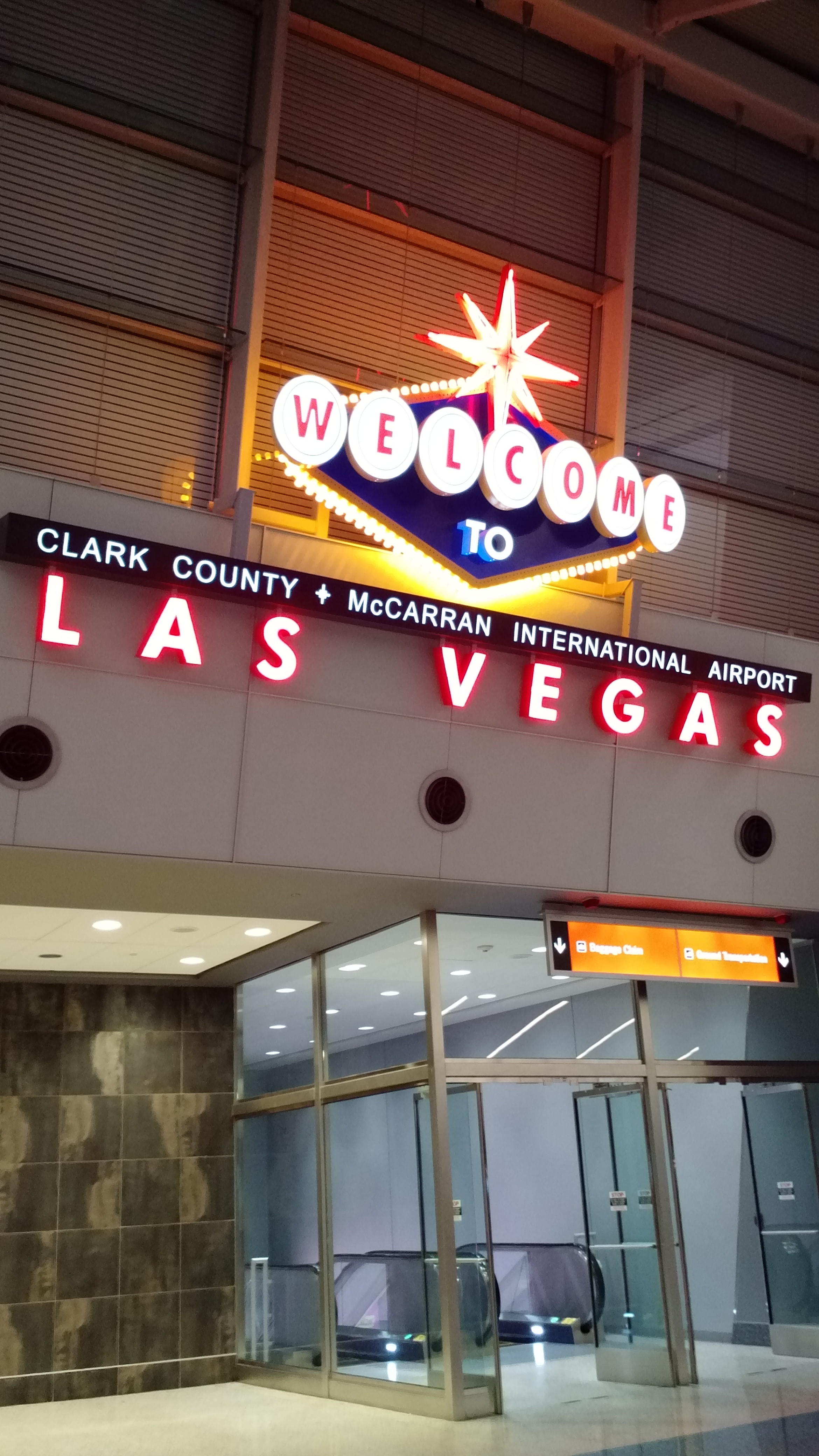 DAY 0 WELCOME TO LAS VEGAS AIRPORT
