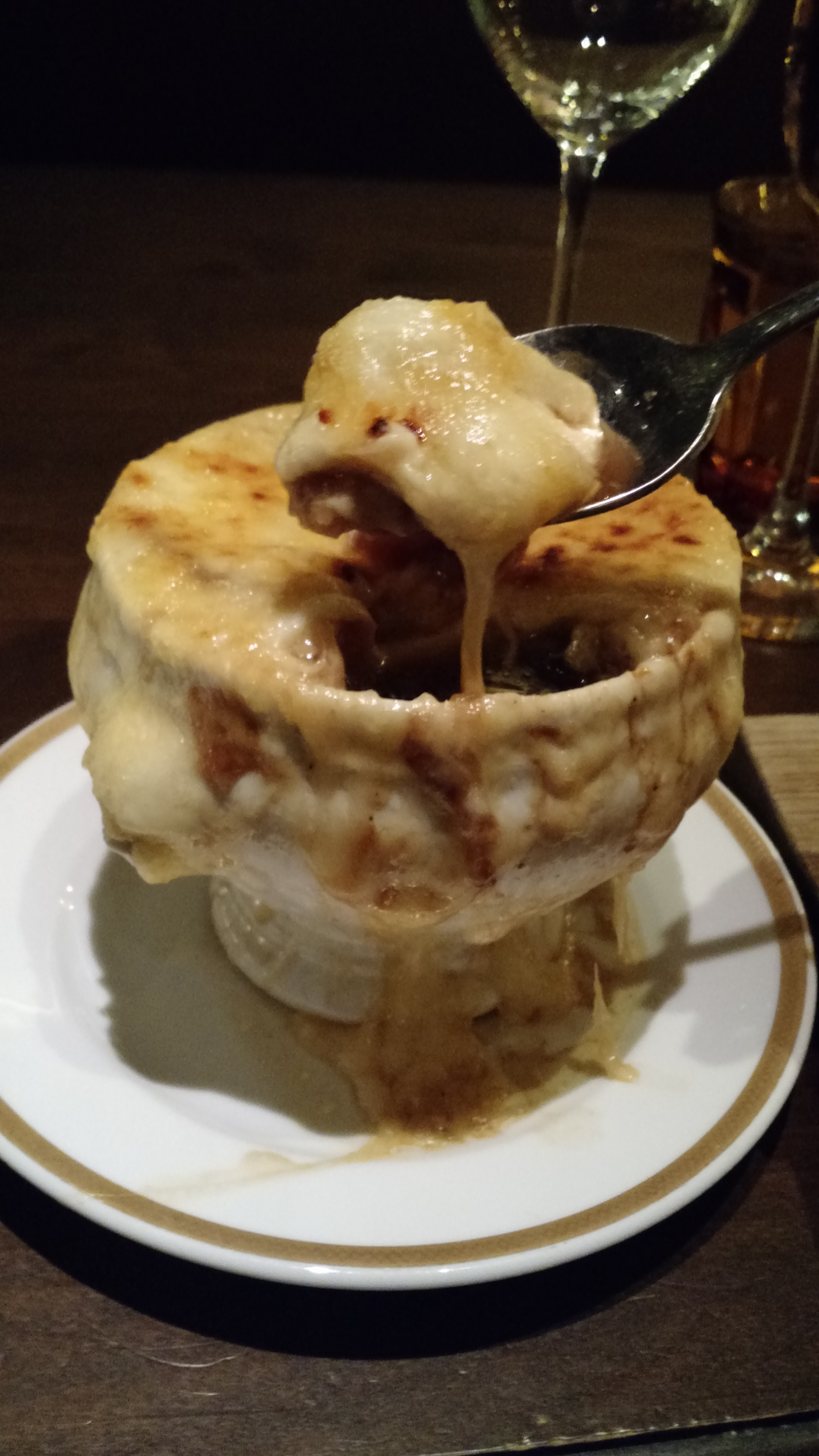 DAY 3 DINNER RESTAURANT BARDOT FRENCH ONION SOUP