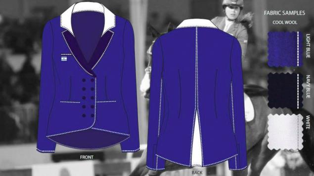 Inbal Hayun, 26, from WIZO Haifa Academy, designed this blazer for the 'Blaze of Glory' contest (Courtesy TEAM Israel)