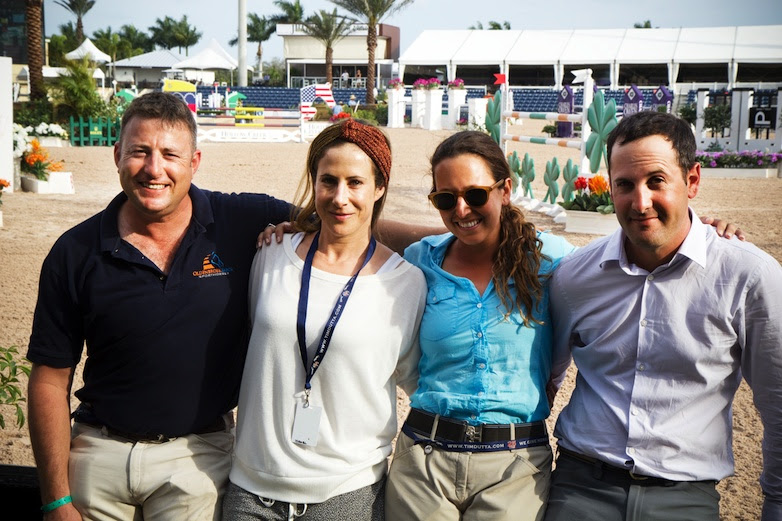 (L to R): Joshua Tabor, chef d'equipe Kate Levy, Danielle Goldstein, and Elad Yaniv. (Photo: T.E.A.M. Israel)