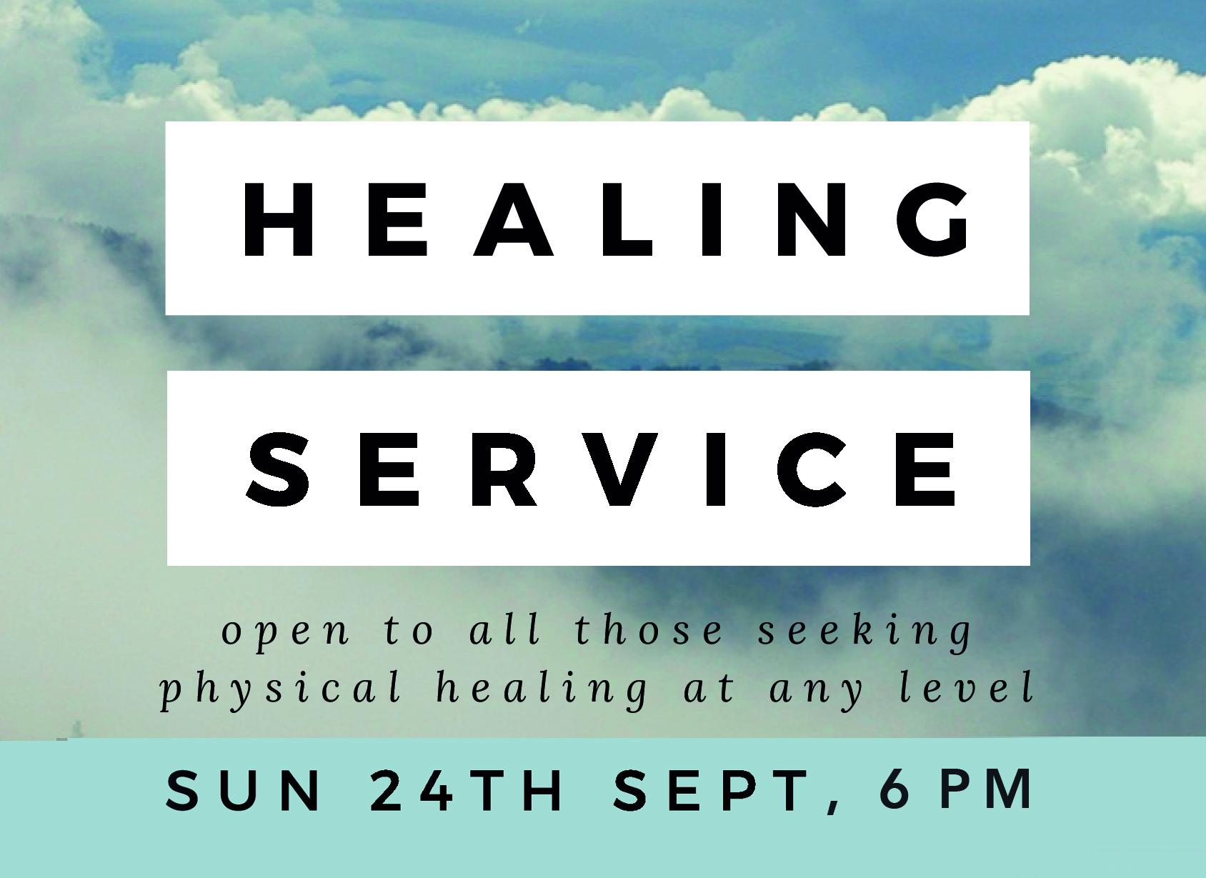Healing Service - Sun 24th Sept 6pm