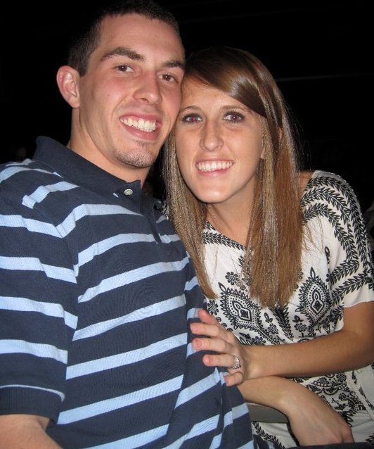 A picture while we were dating. We joke that we have to date forever because we didn't get very long of it.