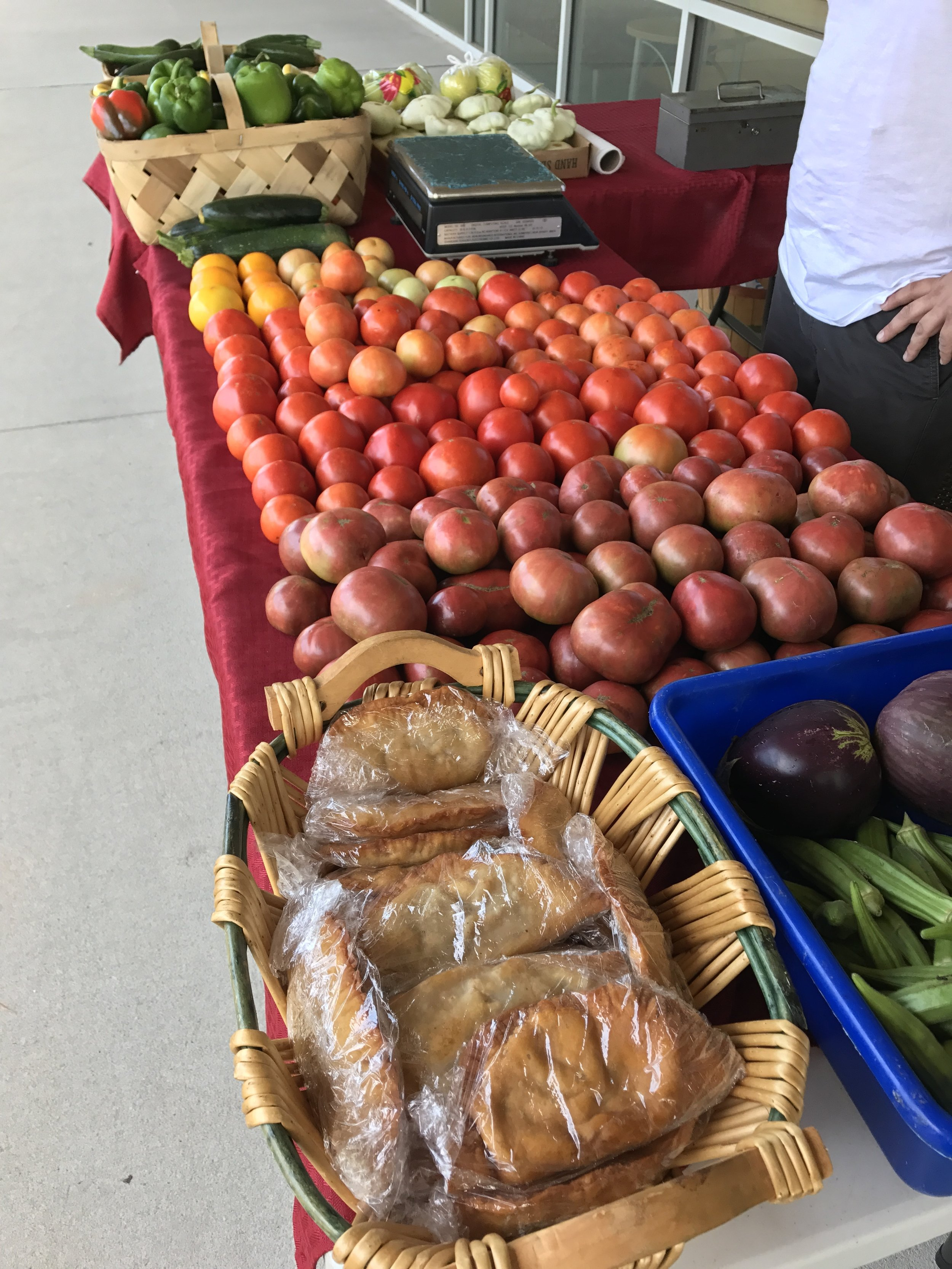 Farmers market comes to work every Tuesday! I love it!