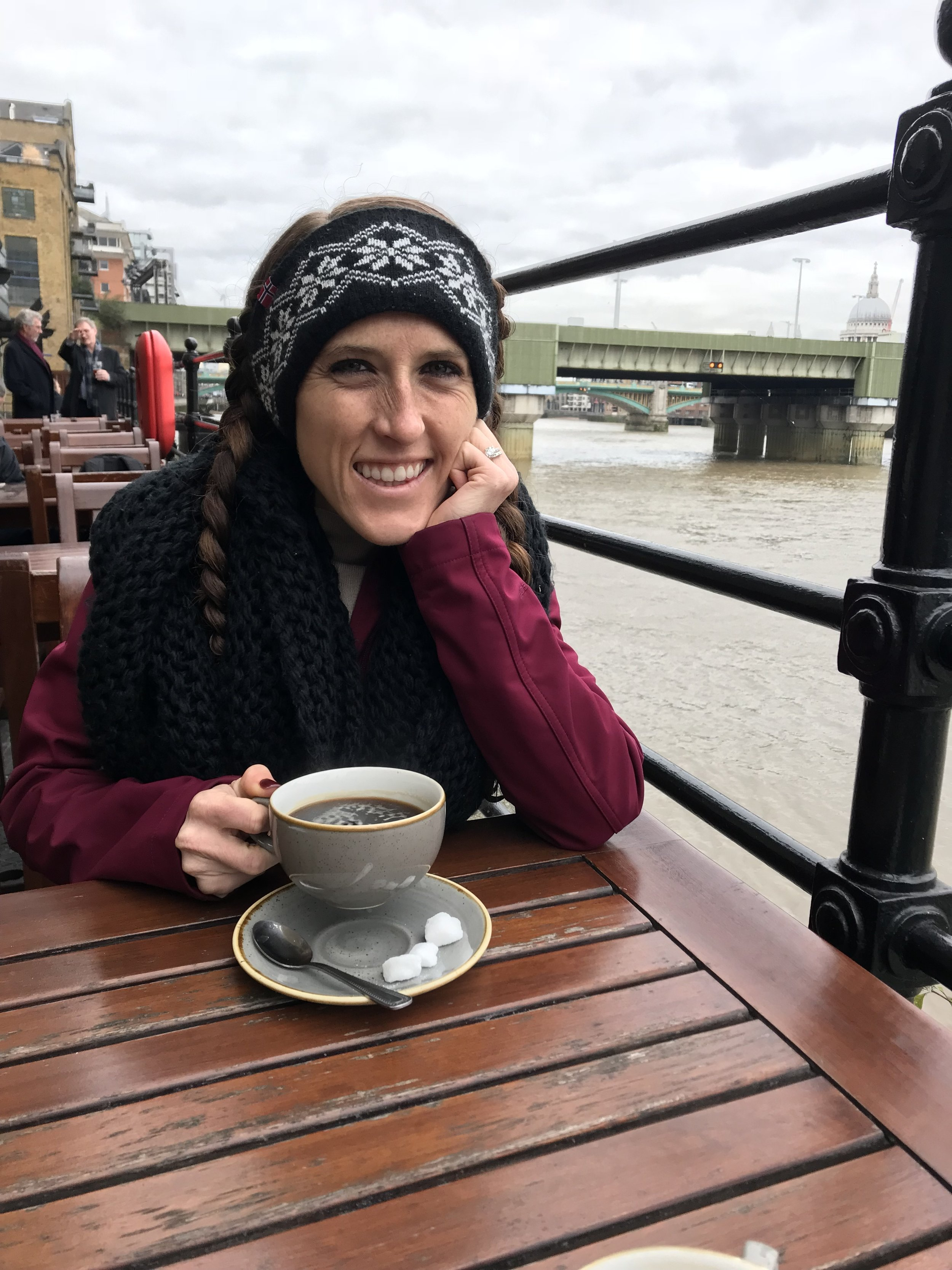 coffee on the River thames! We did this multiple times and it was so so lovely <3