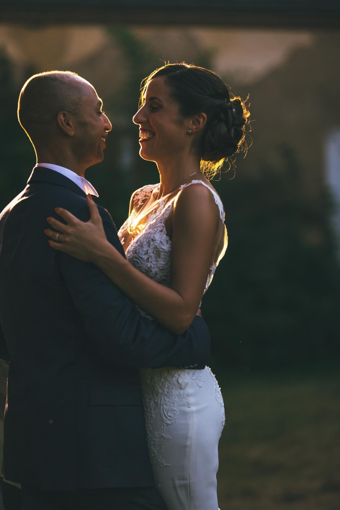 Mariés et belle lumière