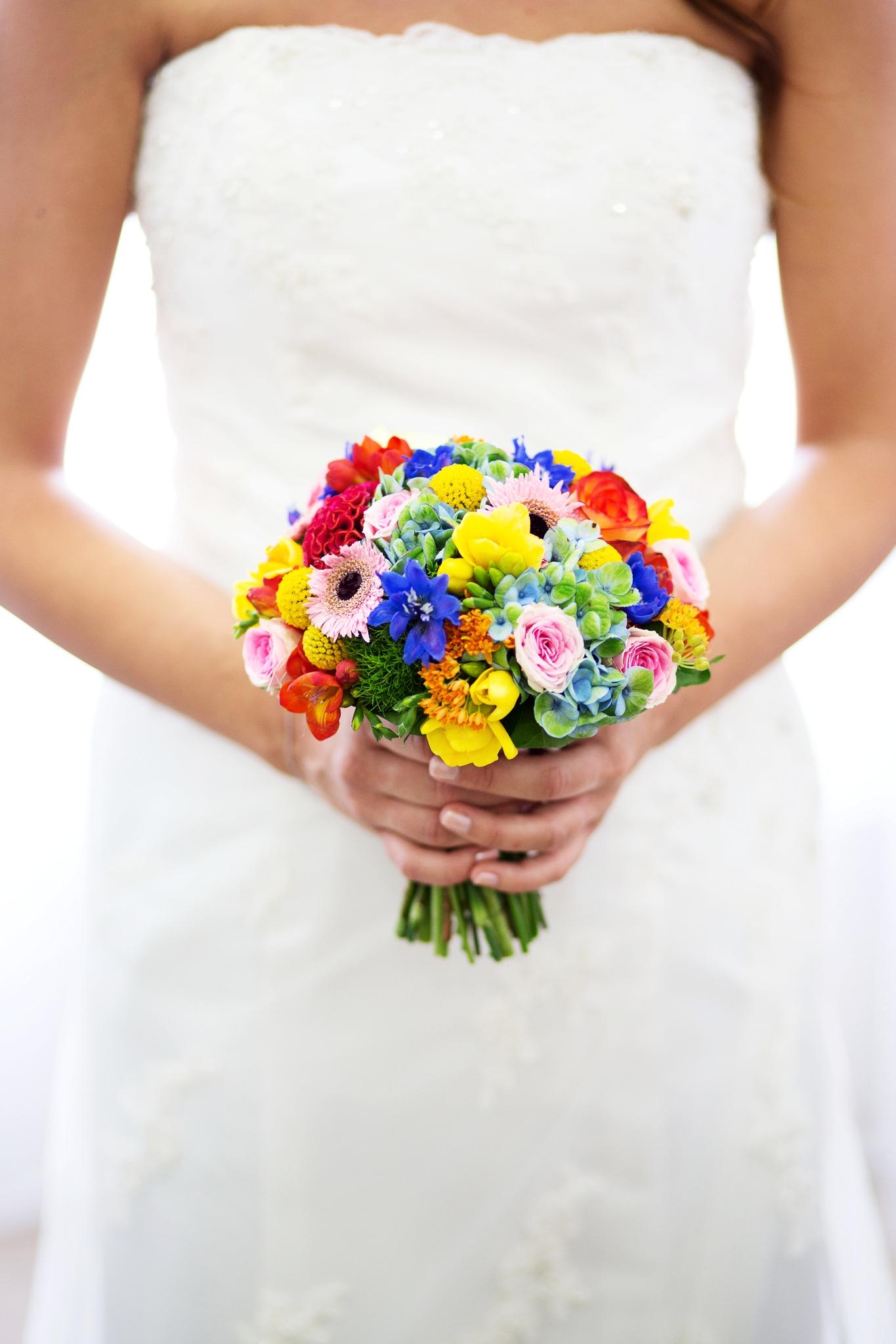 Bouquet coloré de la marié
