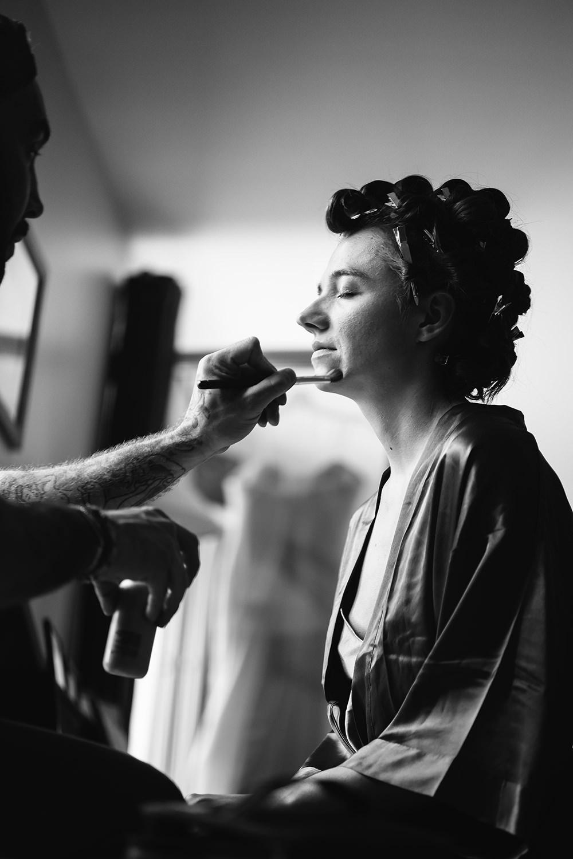 Mariée au maquillage