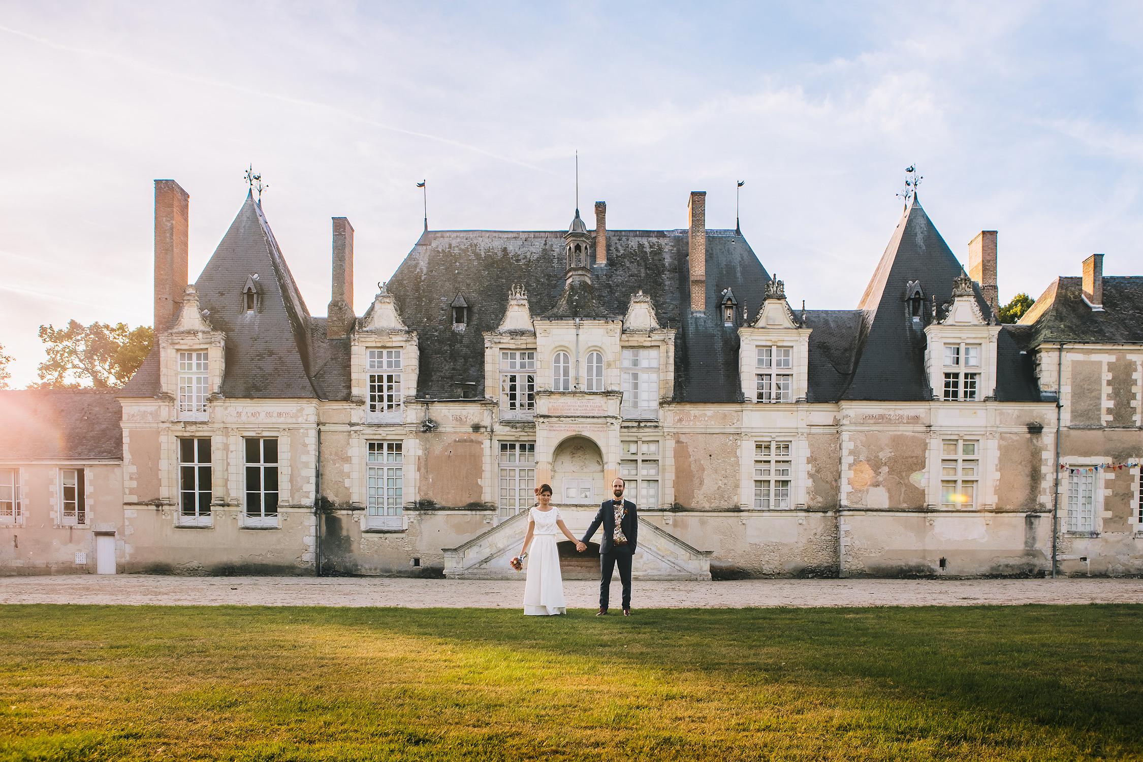 Photo mariés au chateau de villesavin