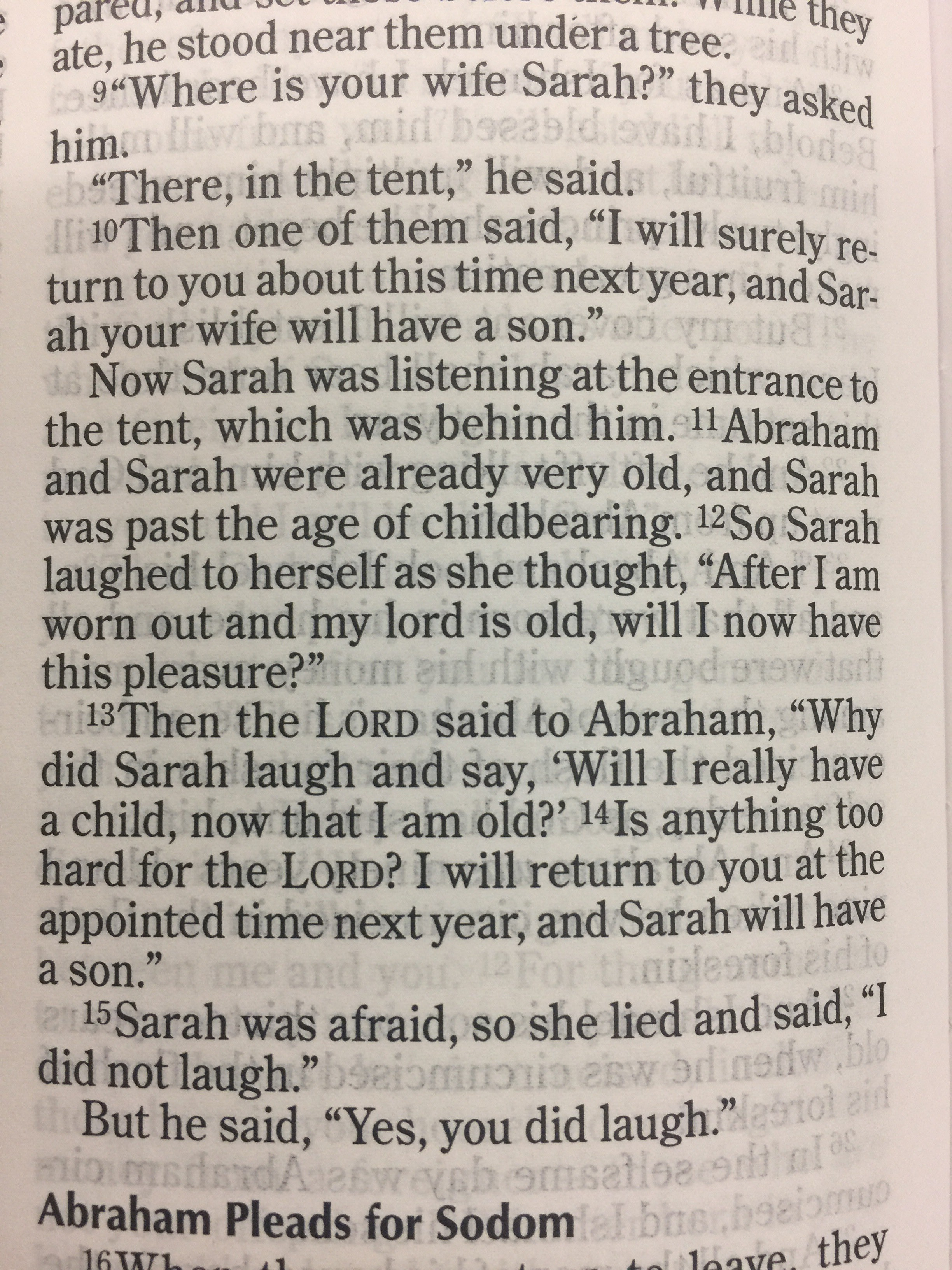 Part of our scripture from the night