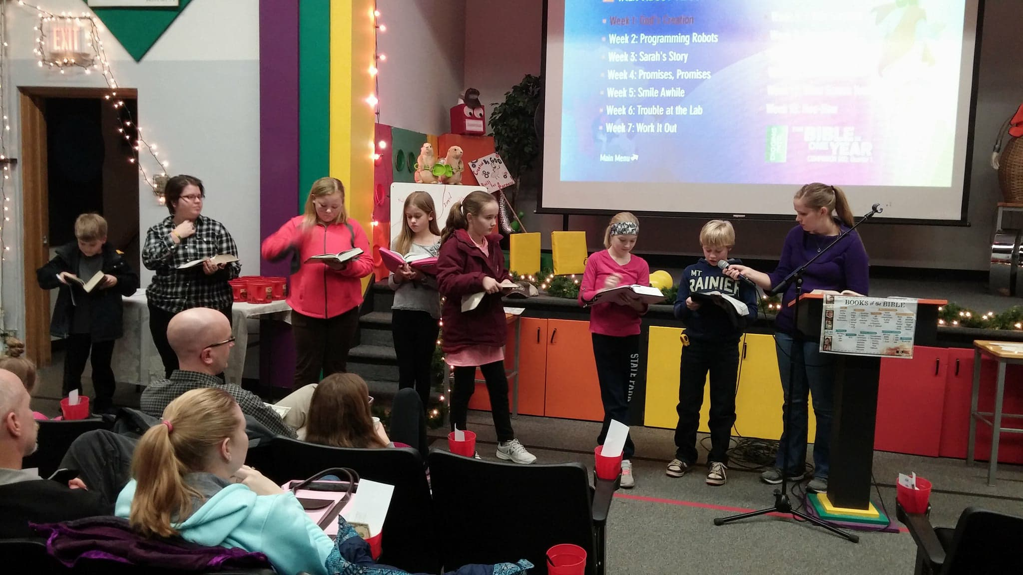 Our kids read verses pertaining to how God gets our attention.