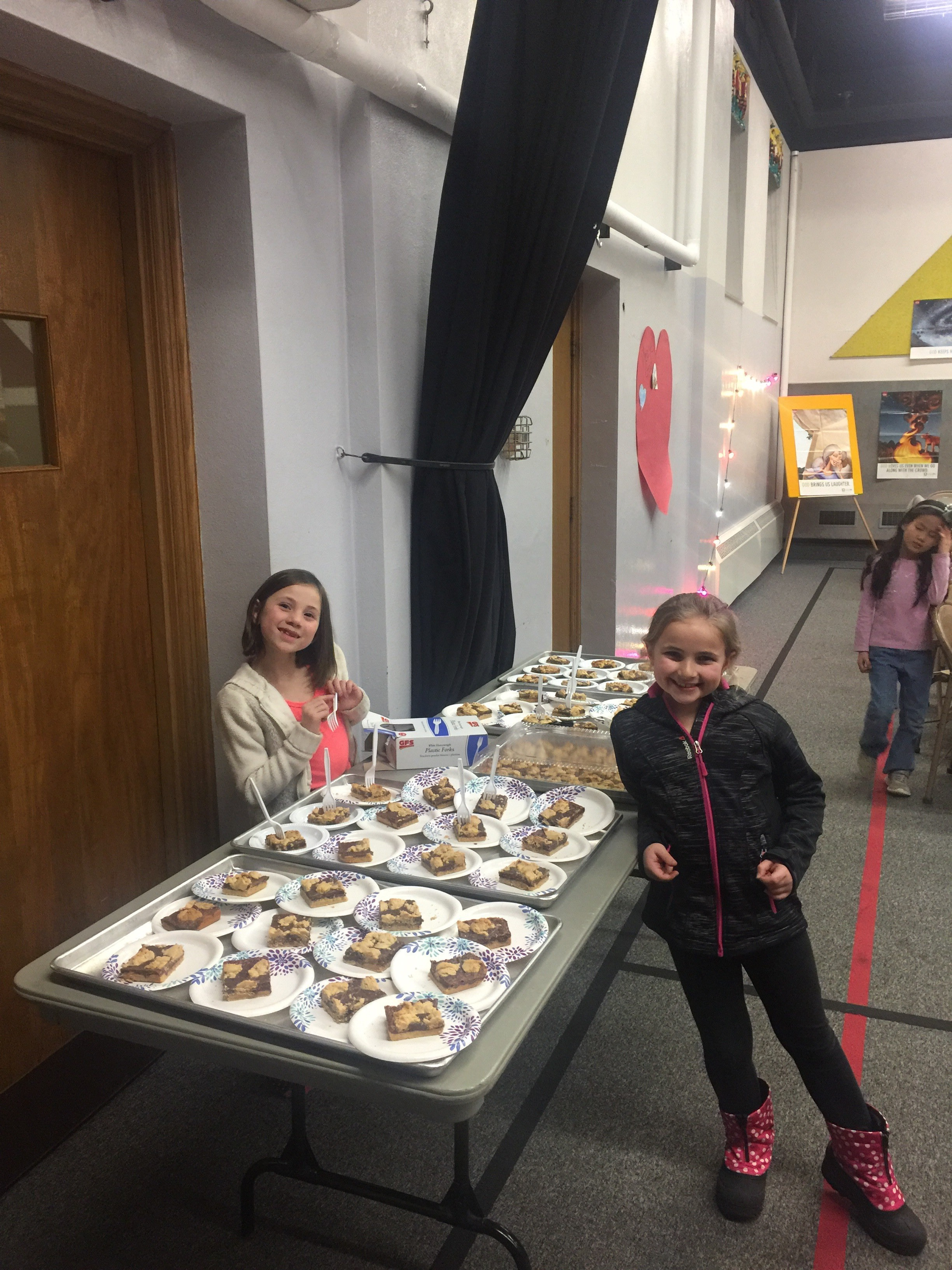 These two girls helped serve our dessert. What a wonderful thing to see!